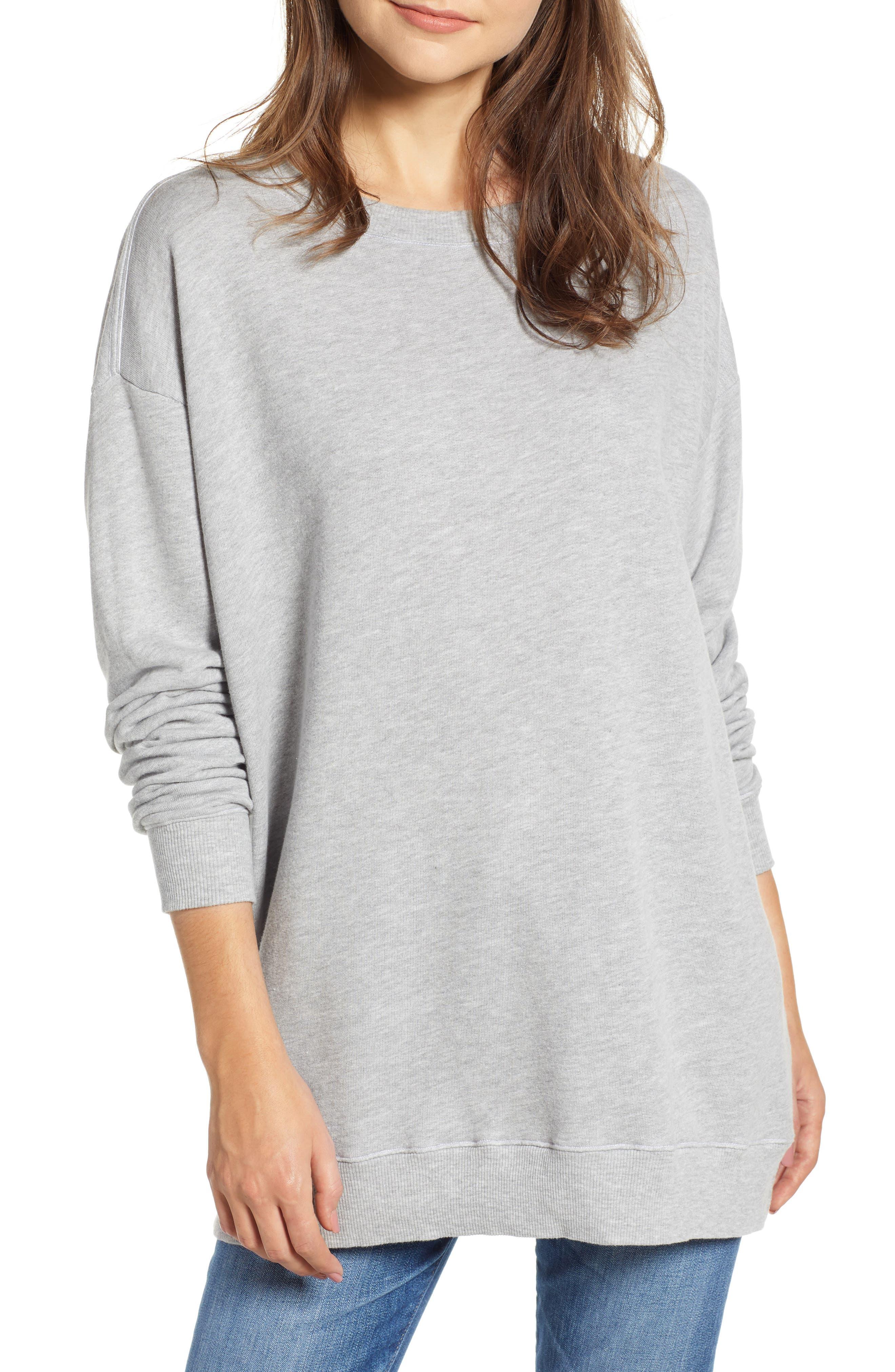 Roadtrip Sweatshirt,                         Main,                         color, HEATHER
