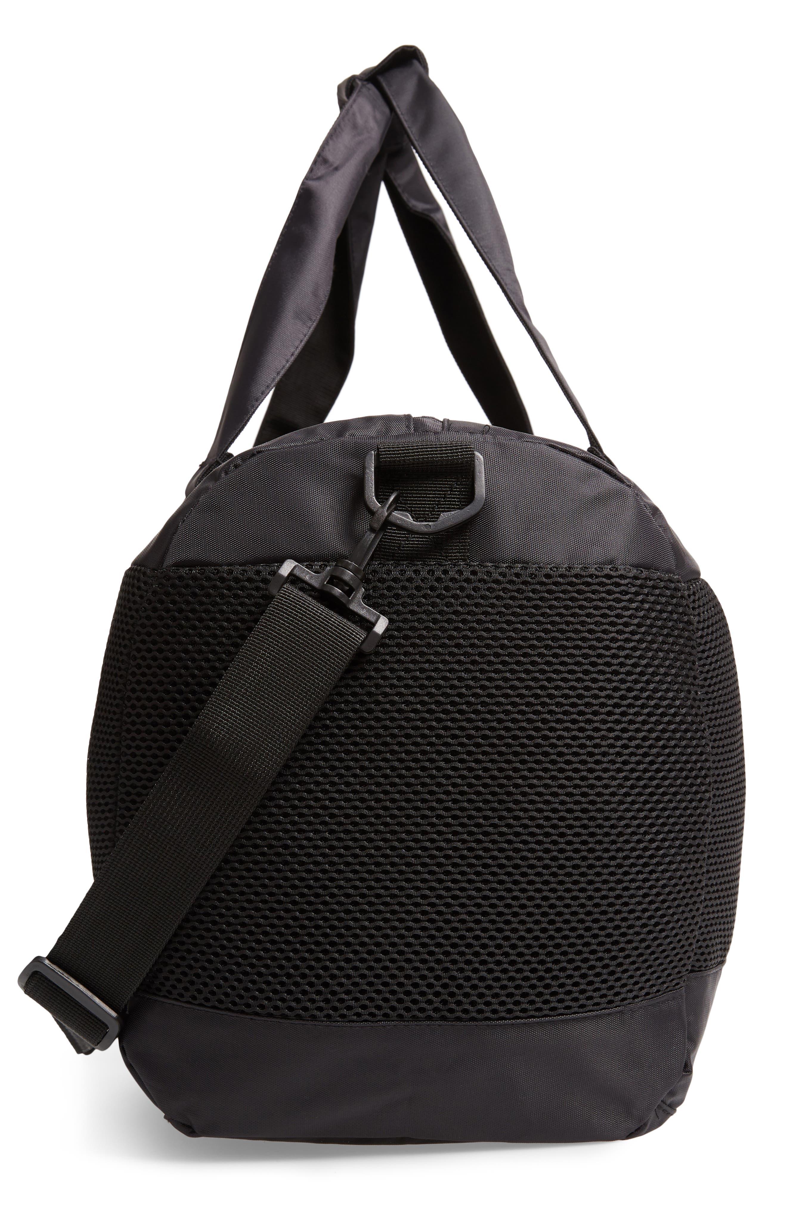 XL Athletic Duffel Bag,                             Alternate thumbnail 5, color,                             BLACK-WHITE