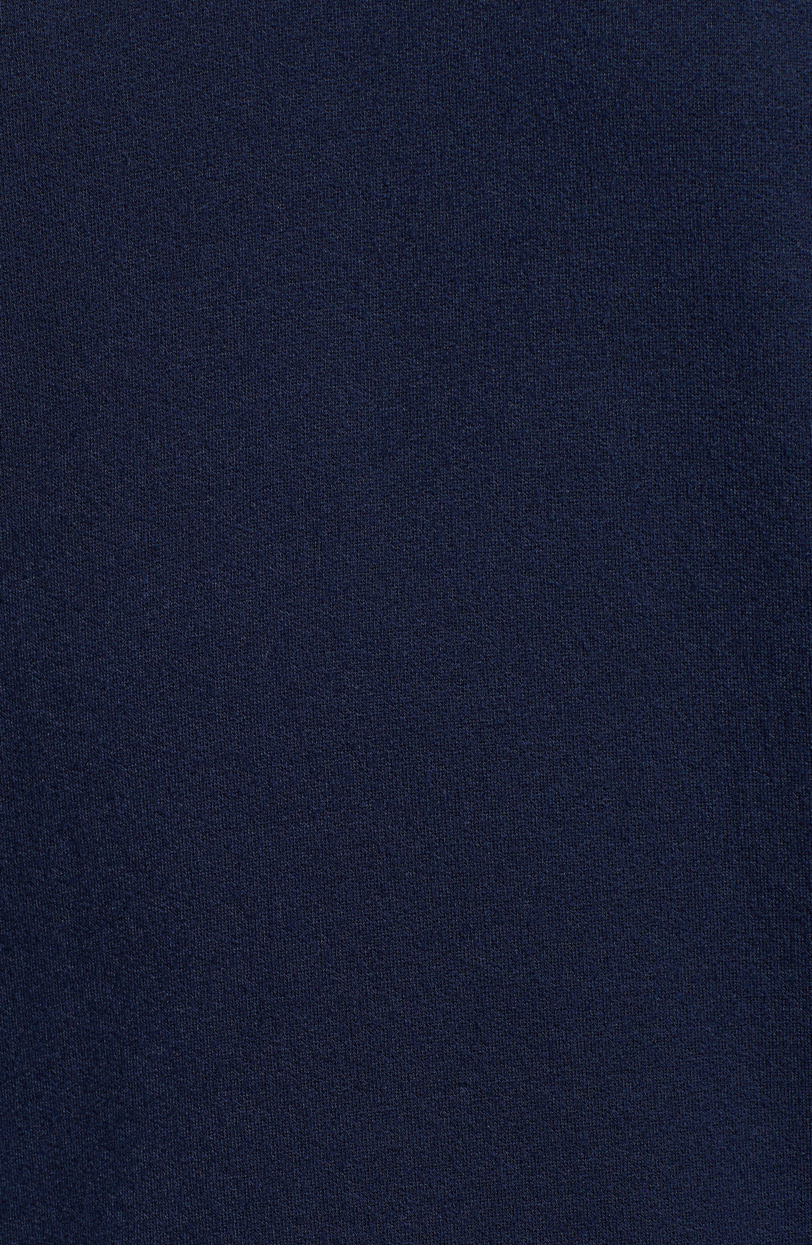 Velvet & Fleece Pullover,                             Alternate thumbnail 5, color,                             INK