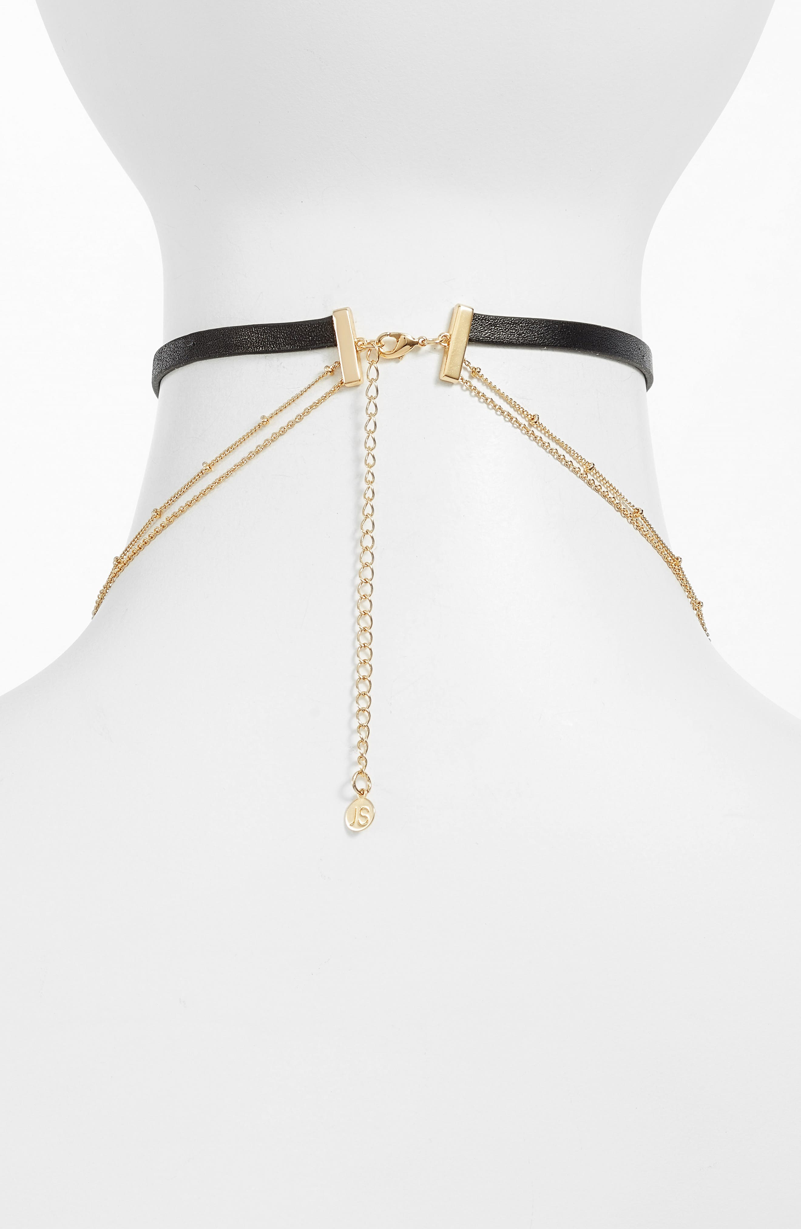 Theo Chain Layered Choker,                             Alternate thumbnail 2, color,                             710