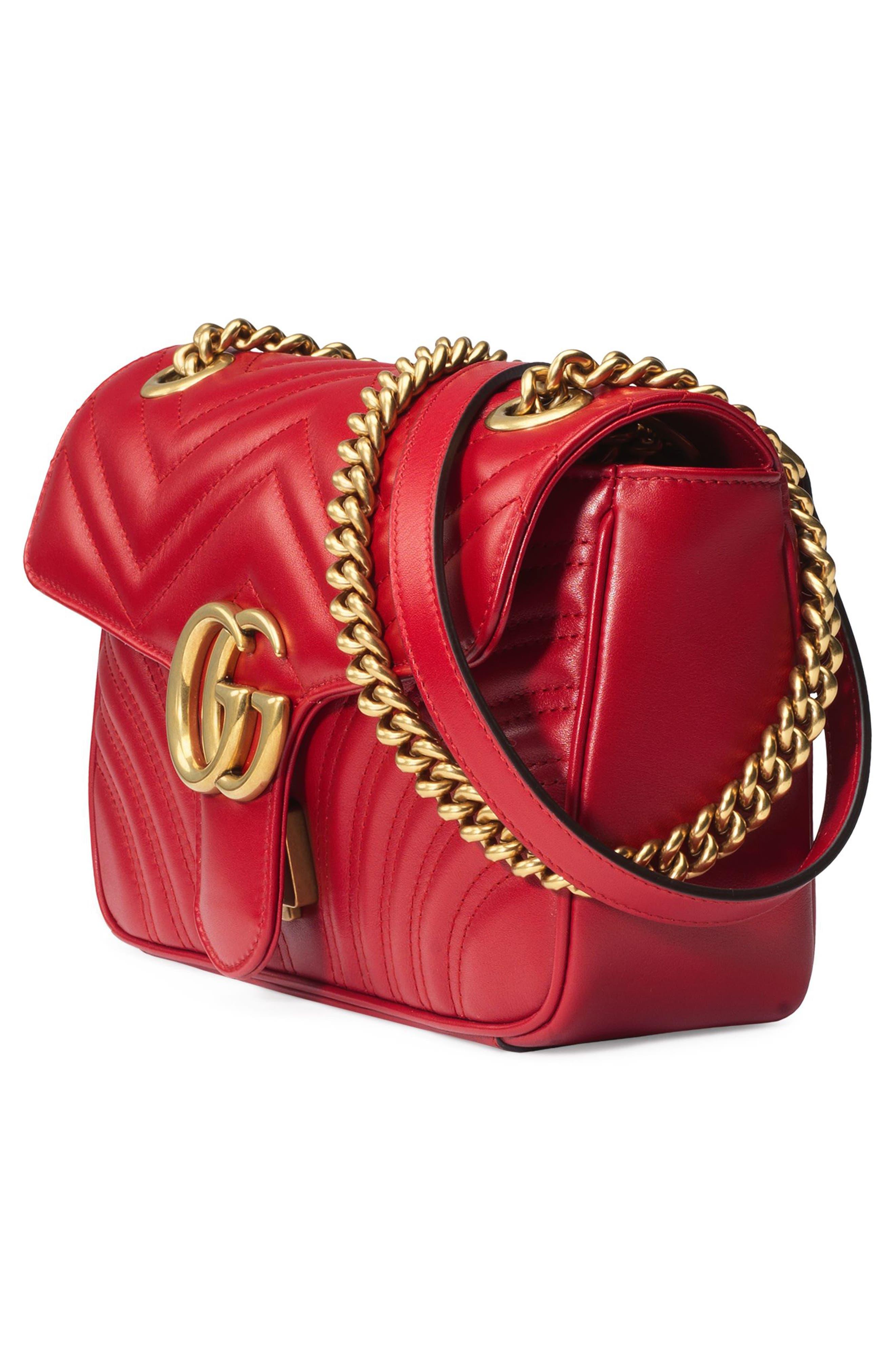 Small GG Marmont 2.0 Matelassé Leather Shoulder Bag,                             Alternate thumbnail 19, color,