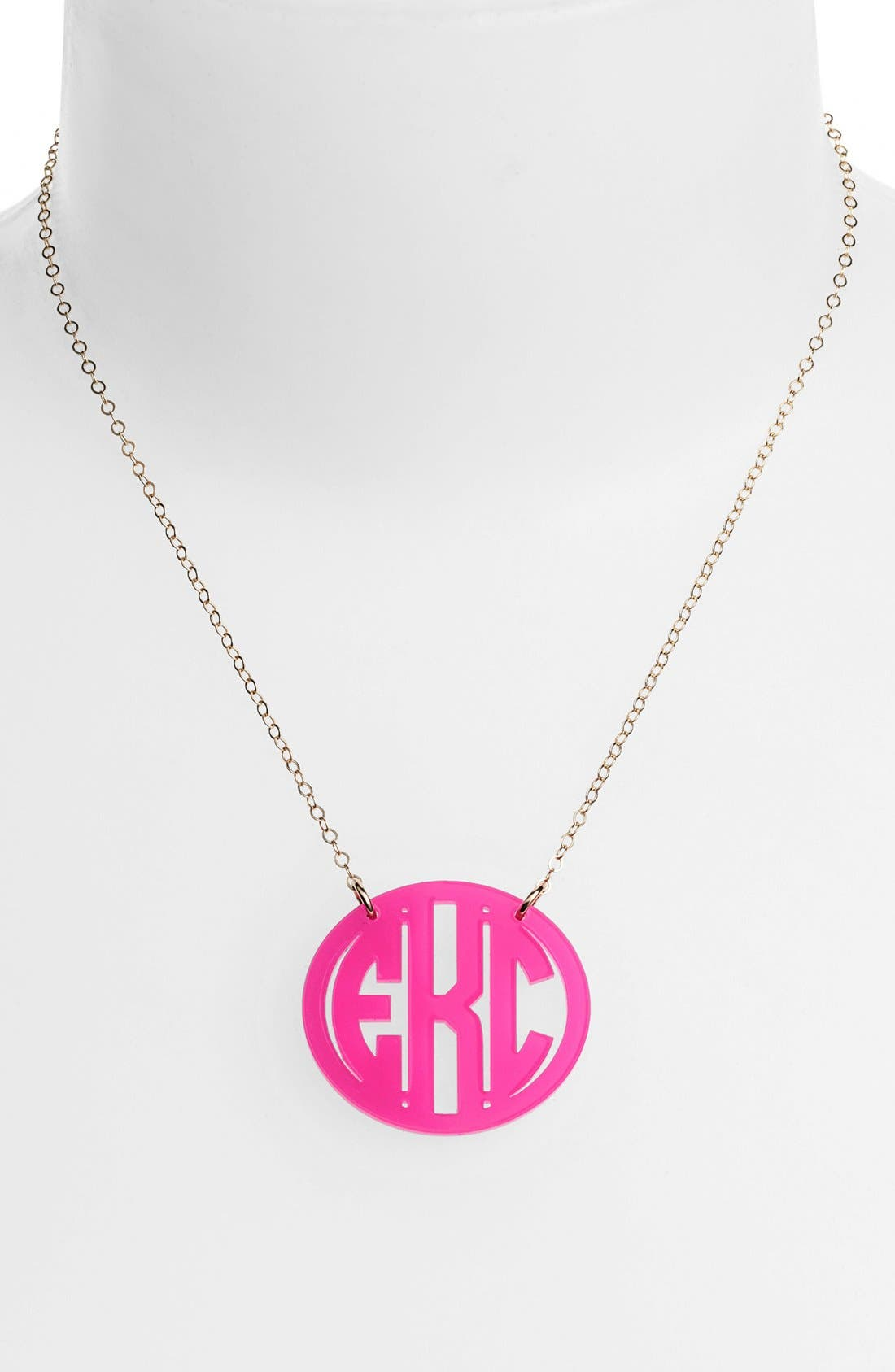 Medium Oval Personalized Monogram Pendant Necklace,                             Main thumbnail 1, color,                             670