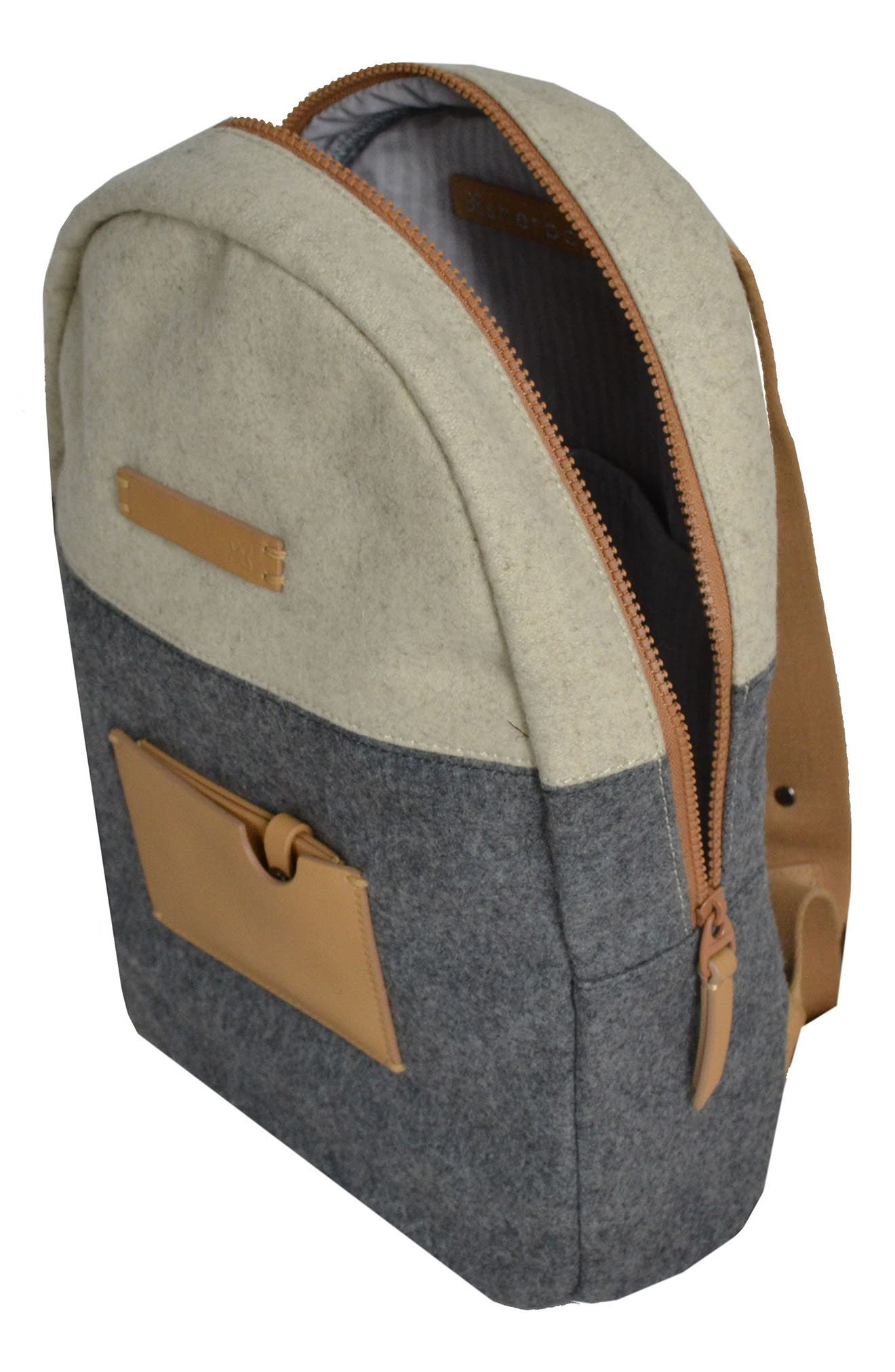 Indie Boiled Wool Backpack,                             Alternate thumbnail 9, color,