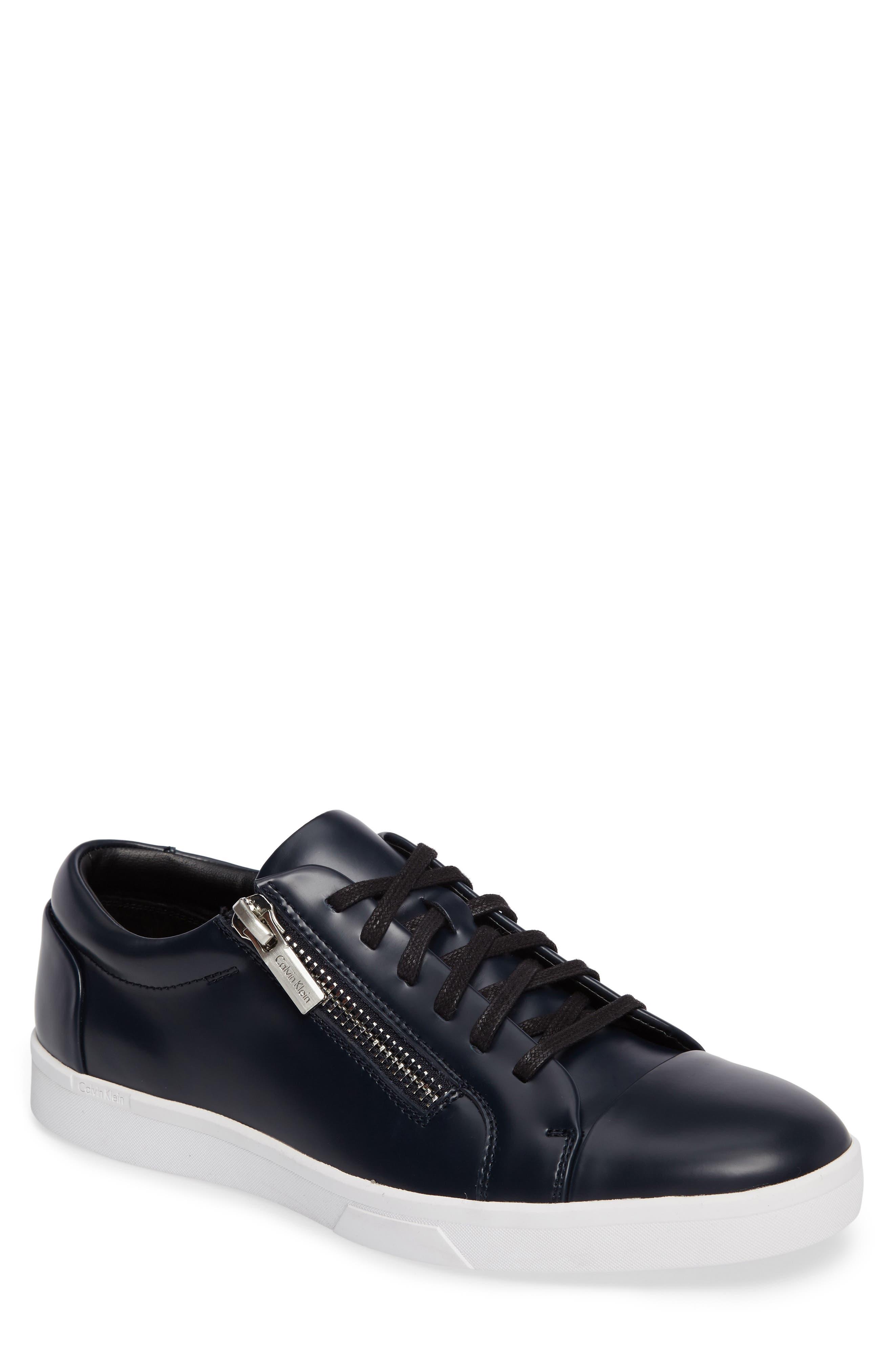 Ibrahim Cap-Toe Zip Sneaker,                             Main thumbnail 3, color,