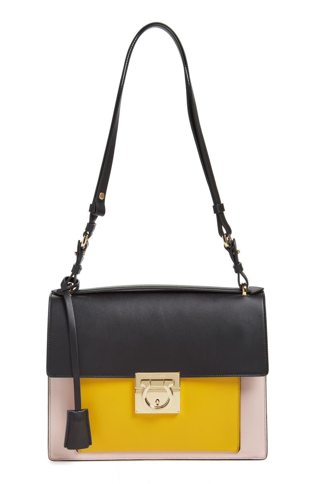 'Large Marisol' Leather Shoulder Bag, Main, color, 250