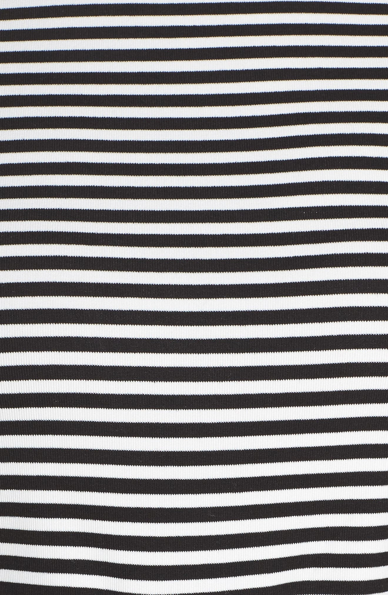Stripe Pajamas,                             Alternate thumbnail 5, color,                             BLACK/ WHITE