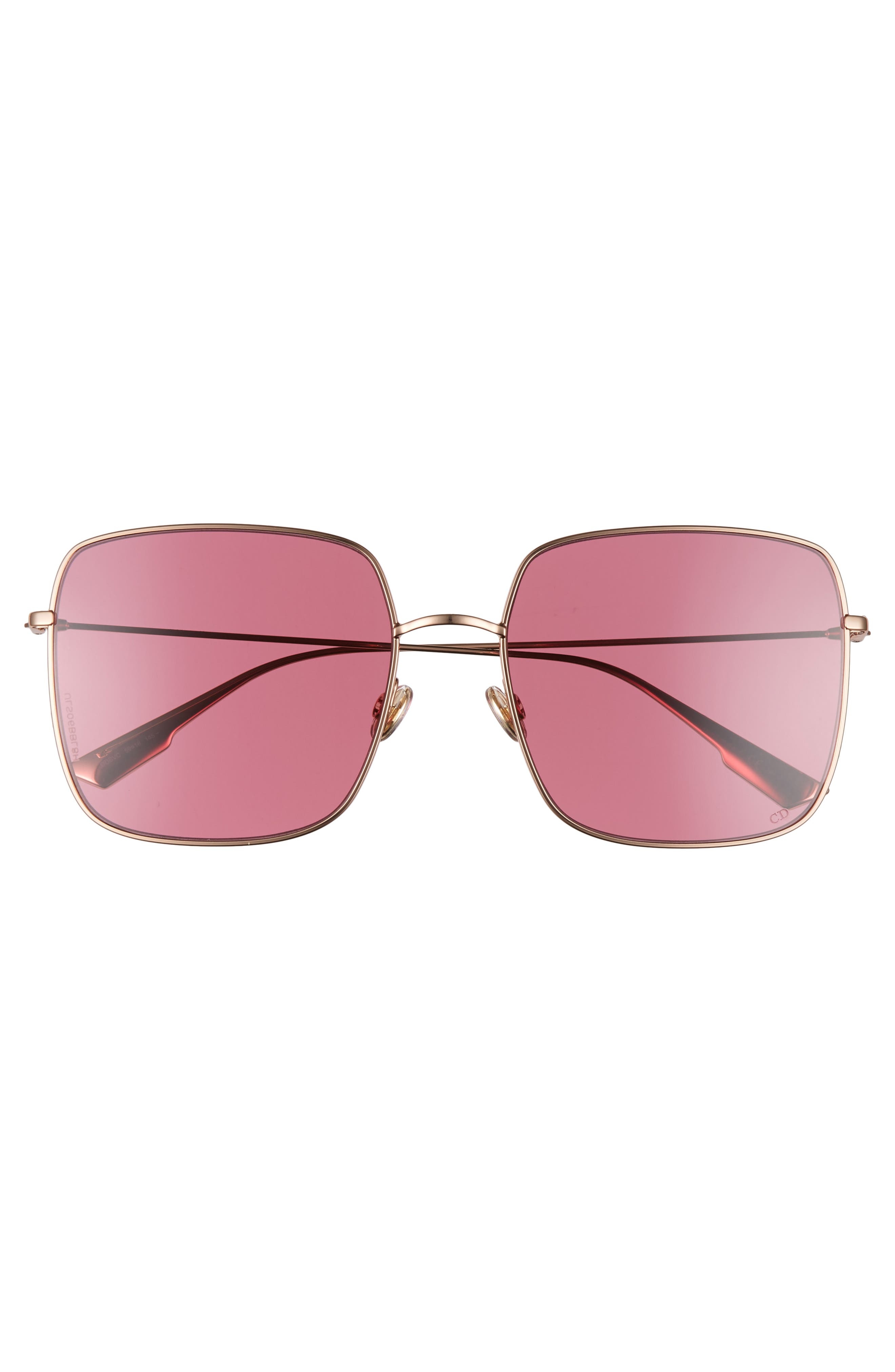 Stellaire 59mm Square Sunglasses,                             Alternate thumbnail 3, color,                             GOLD/ WINE