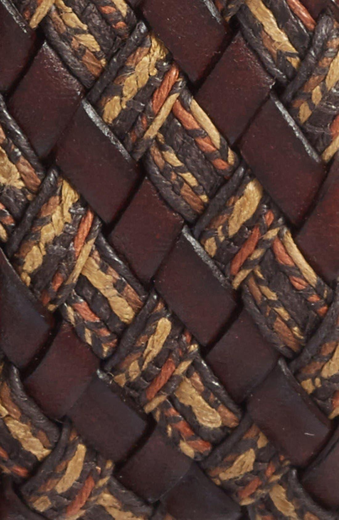 Woven & Leather Belt,                             Alternate thumbnail 3, color,                             200