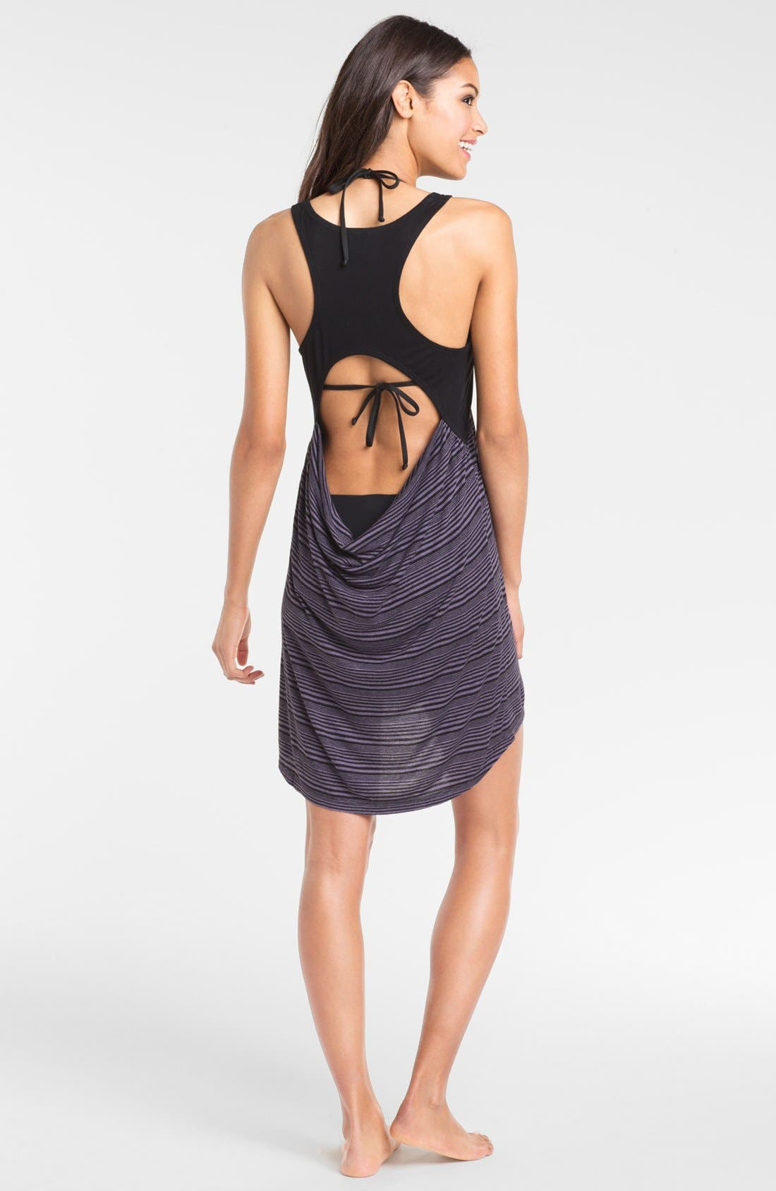 Colorblock Cover-Up Dress,                             Alternate thumbnail 2, color,                             001
