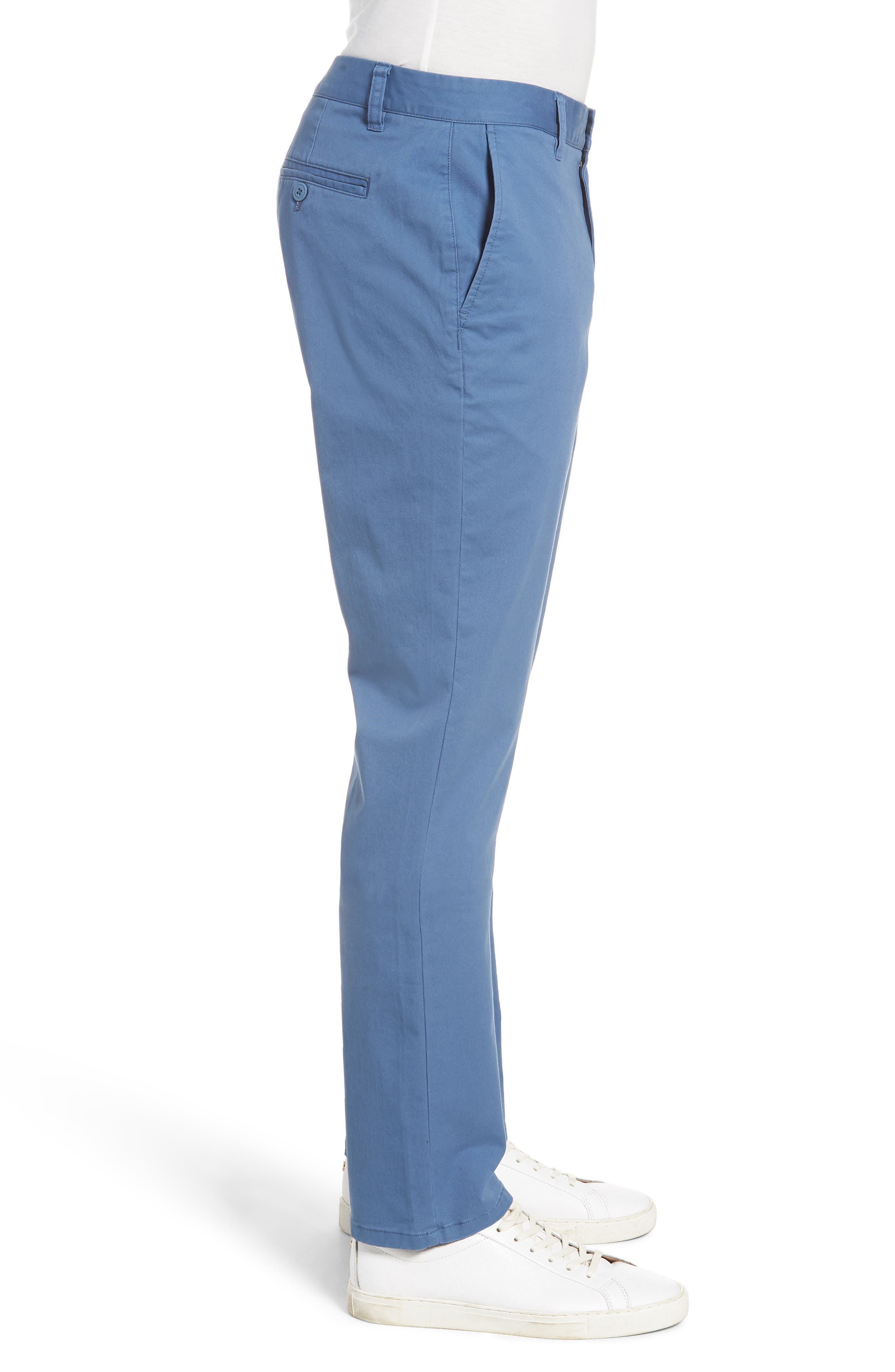 Tailored Fit Washed Stretch Cotton Chinos,                             Alternate thumbnail 86, color,