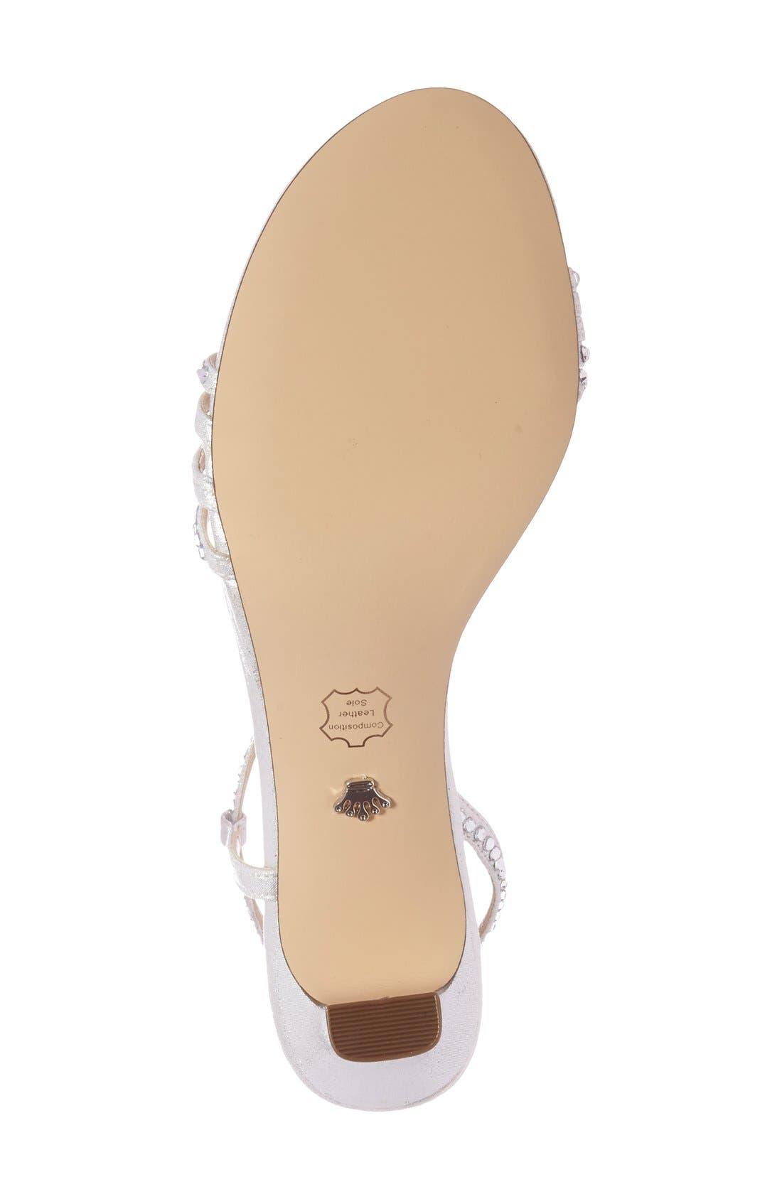 'Gerri' Embellished Slingback Sandal,                             Alternate thumbnail 4, color,                             SILVER SUEDE