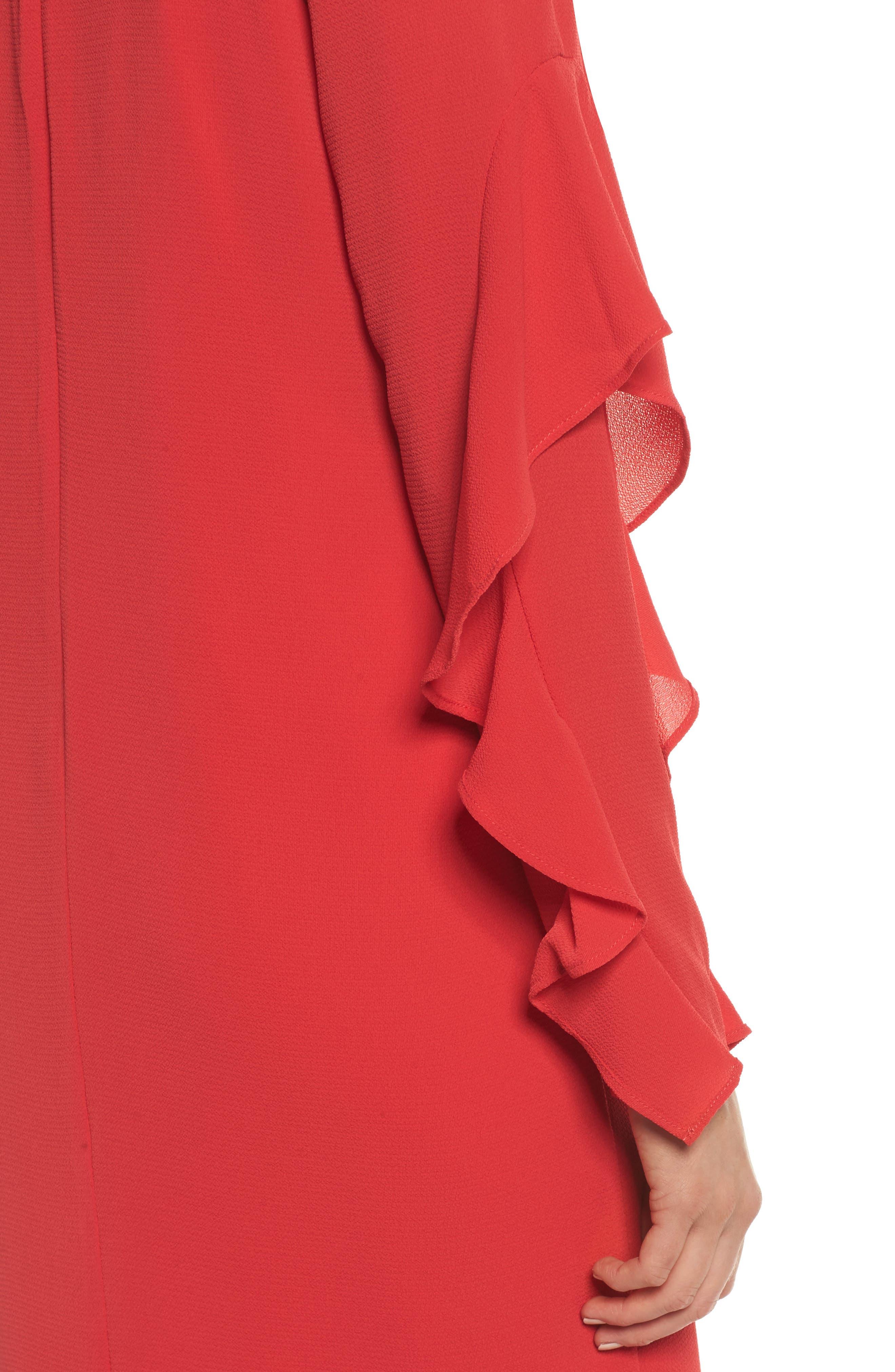 Catalina Ruffle Sleeve Dress,                             Alternate thumbnail 4, color,                             648