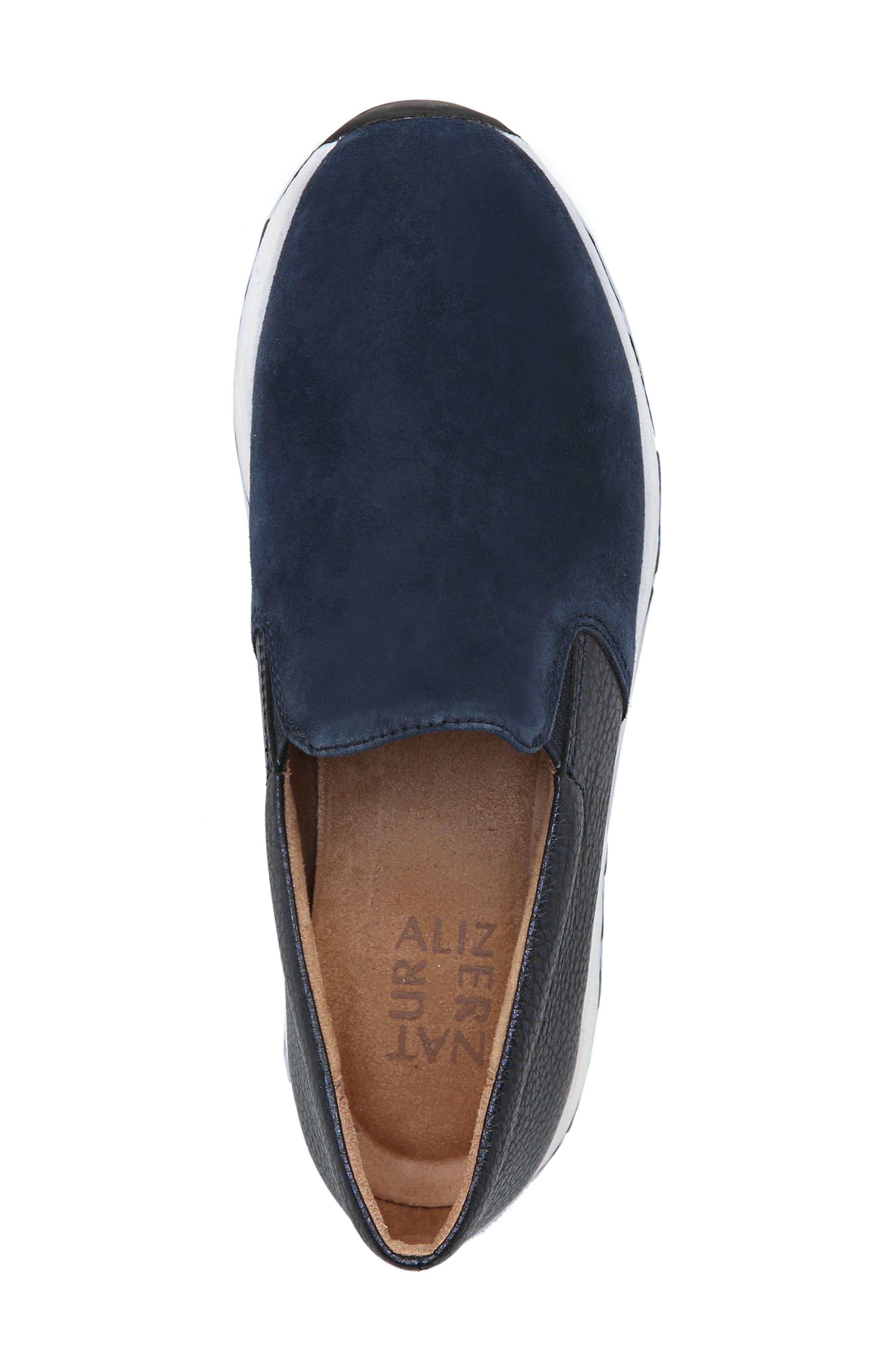 Selah Slip-On Sneaker,                             Alternate thumbnail 5, color,                             INKY NAVY SUEDE