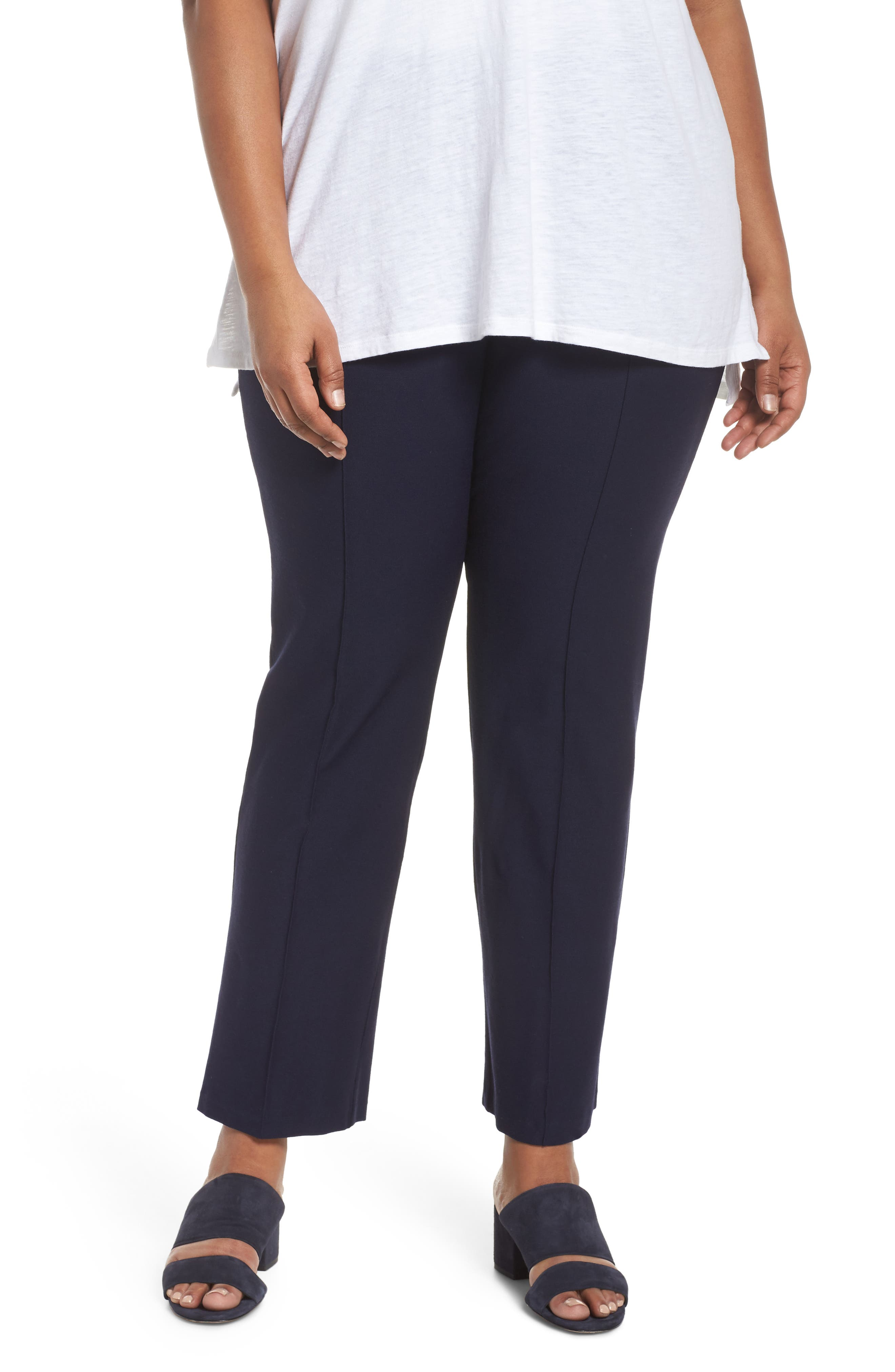 Slim Bootcut Pants,                         Main,                         color,
