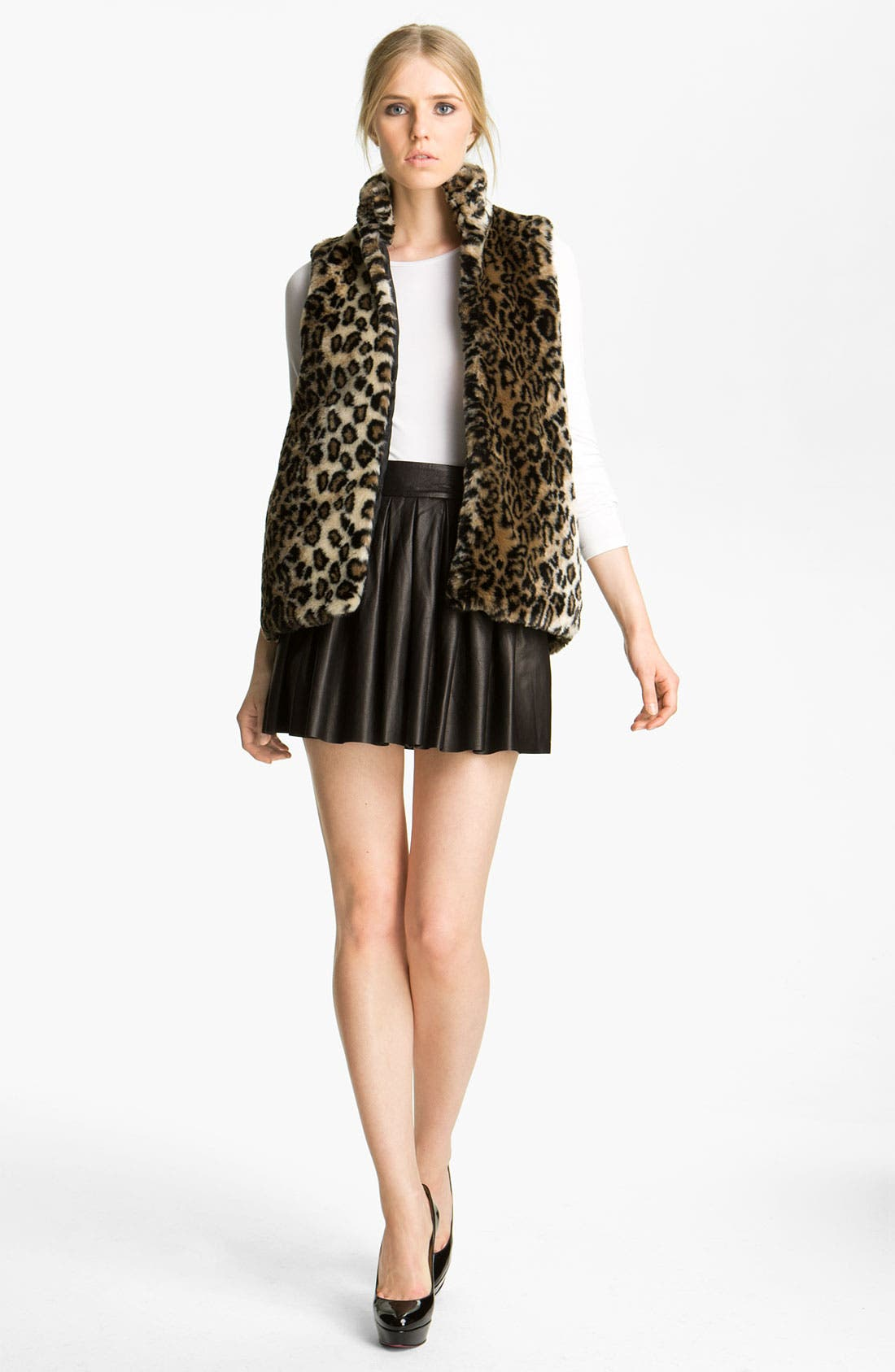 ALICE + OLIVIA,                             'Ettie' Faux Fur Vest,                             Main thumbnail 1, color,                             250