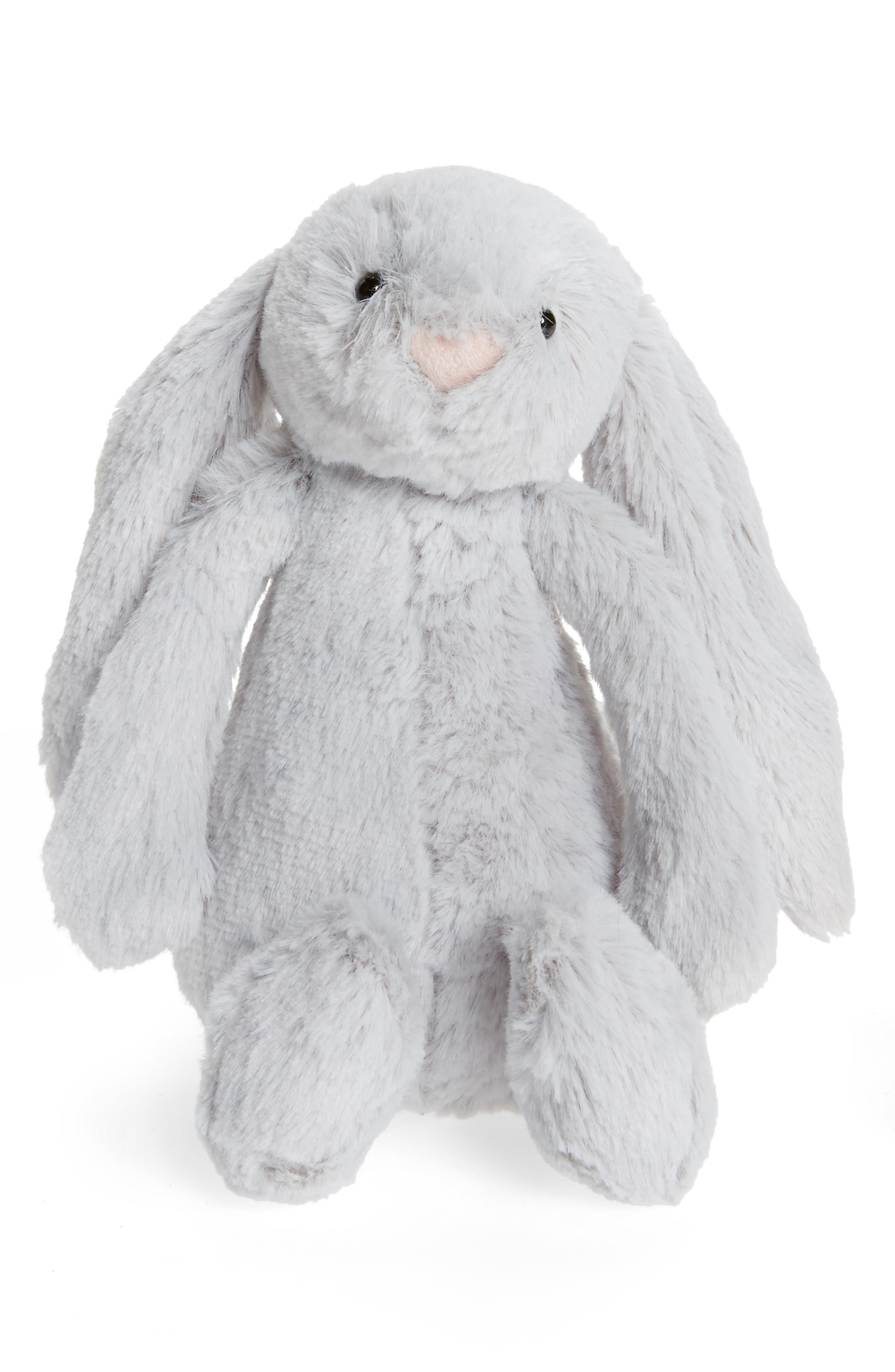 JELLYCAT,                             'Small Bashful Bunny' Stuffed Animal,                             Main thumbnail 1, color,                             GREY
