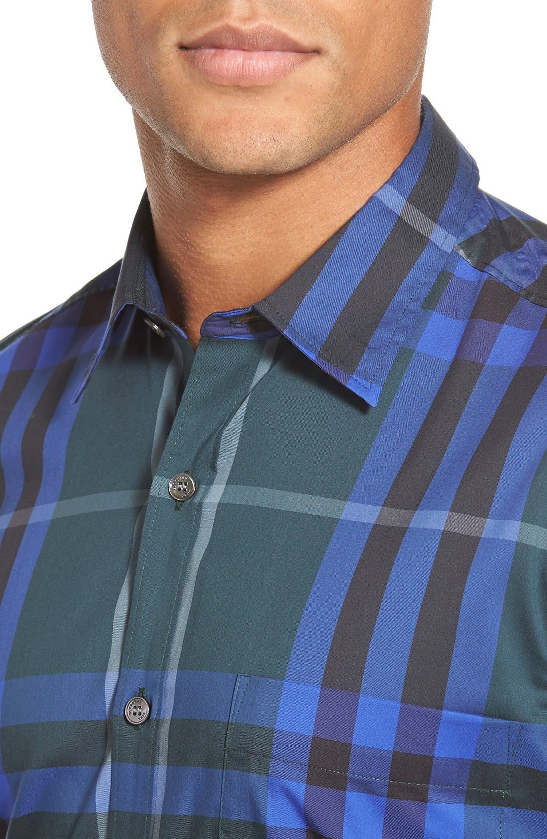 Nelson Check Sport Shirt,                             Alternate thumbnail 82, color,