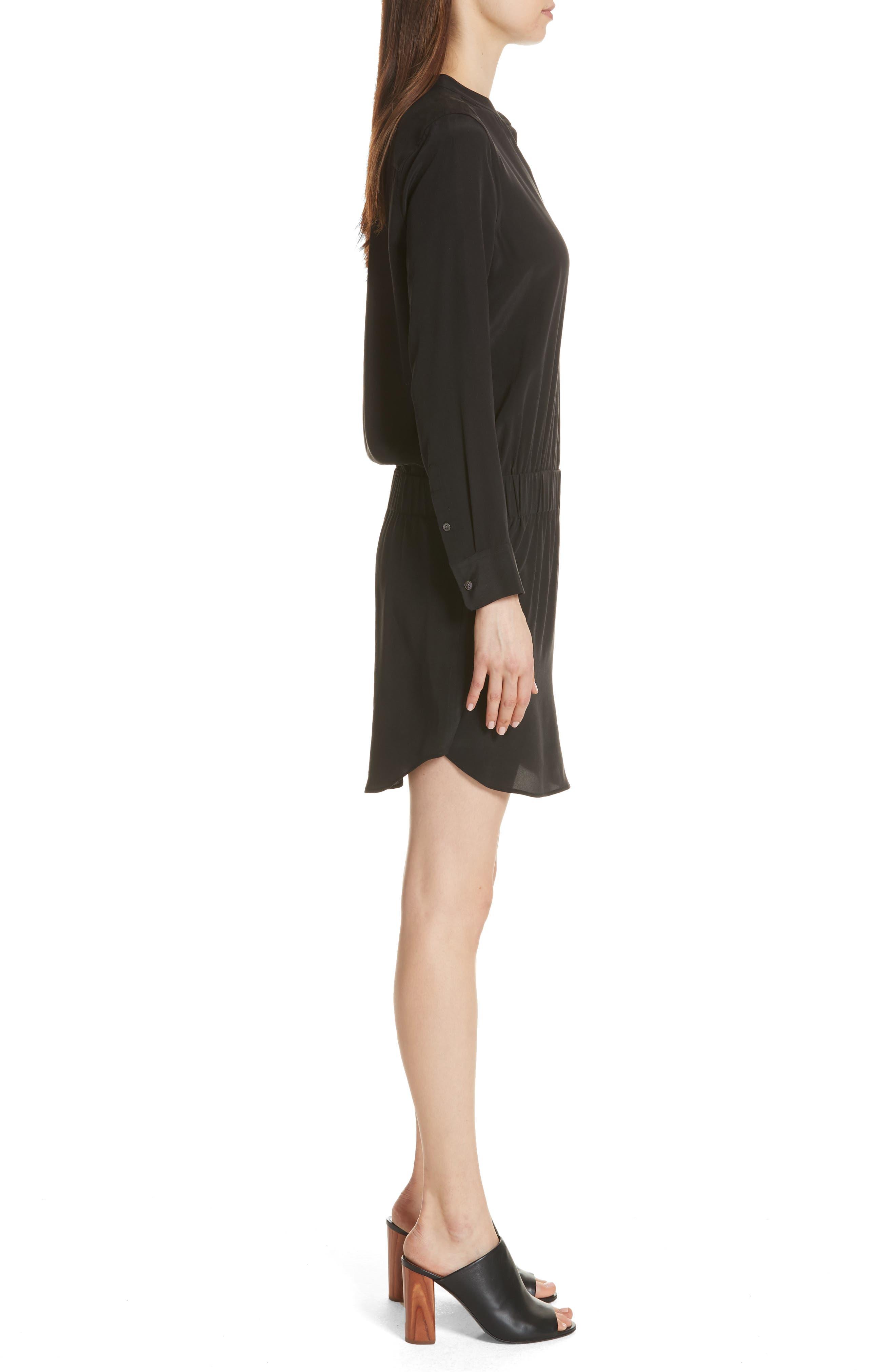 Chelsea Silk Shirtdress,                             Alternate thumbnail 3, color,                             003