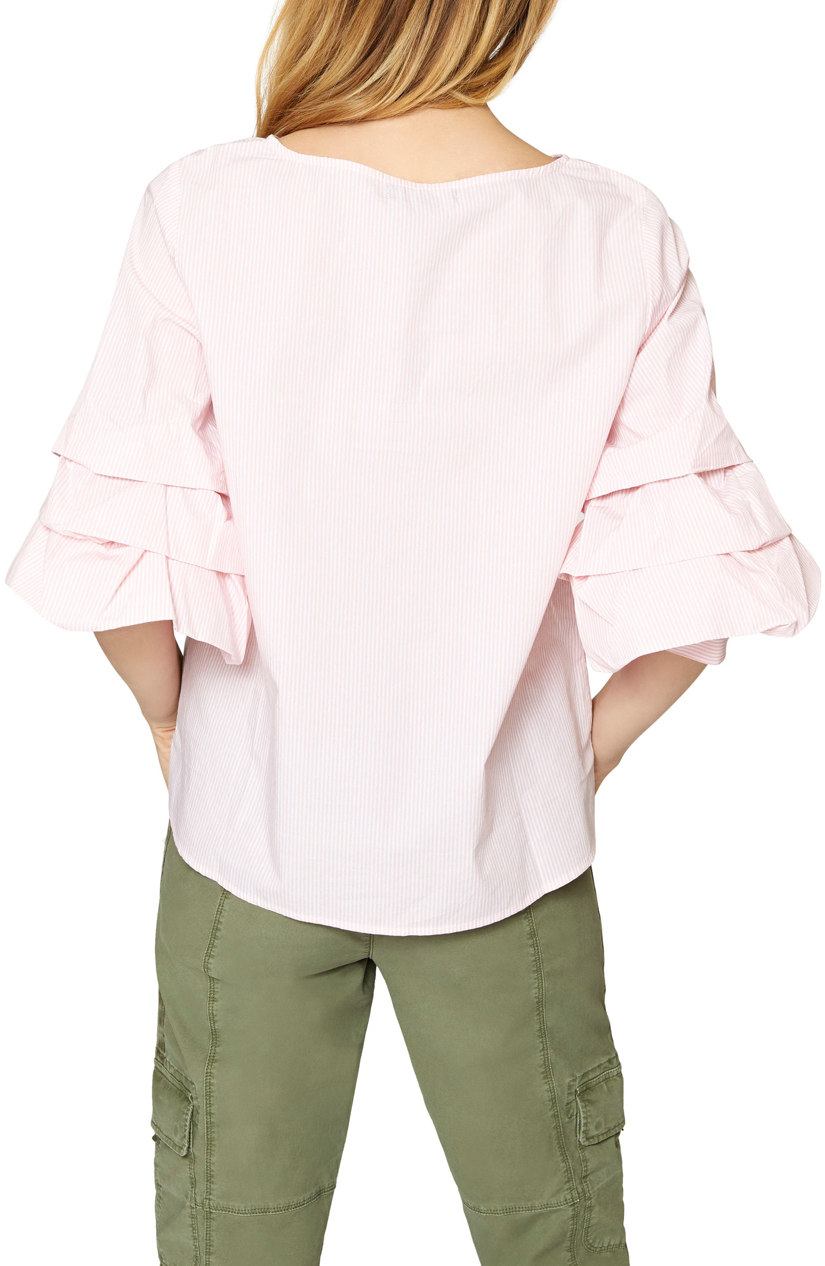 Delphine Tiered Sleeve Top,                             Alternate thumbnail 4, color,