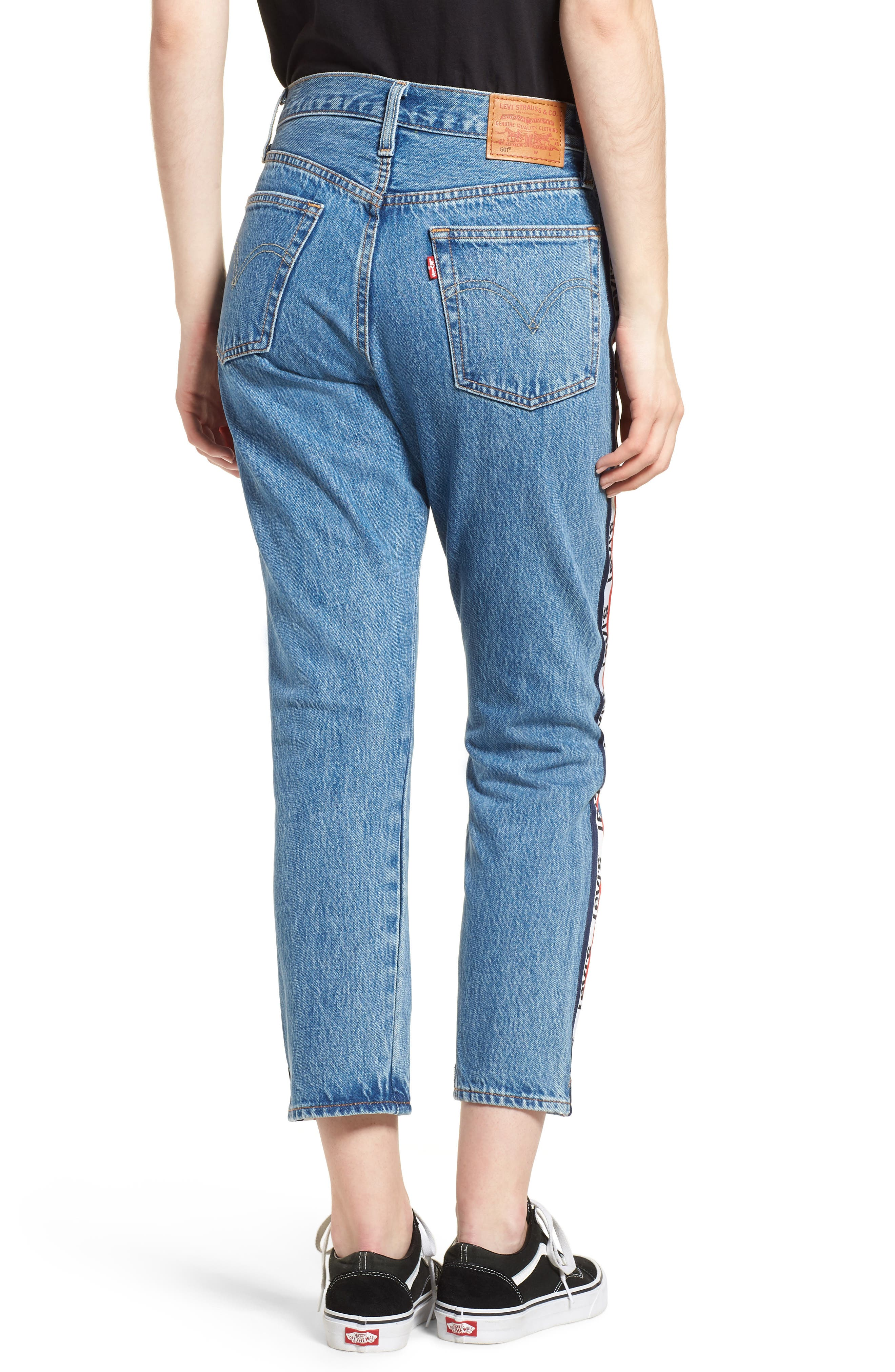501 High Waist Crop Jeans,                             Alternate thumbnail 2, color,                             SPECTATOR SPORT