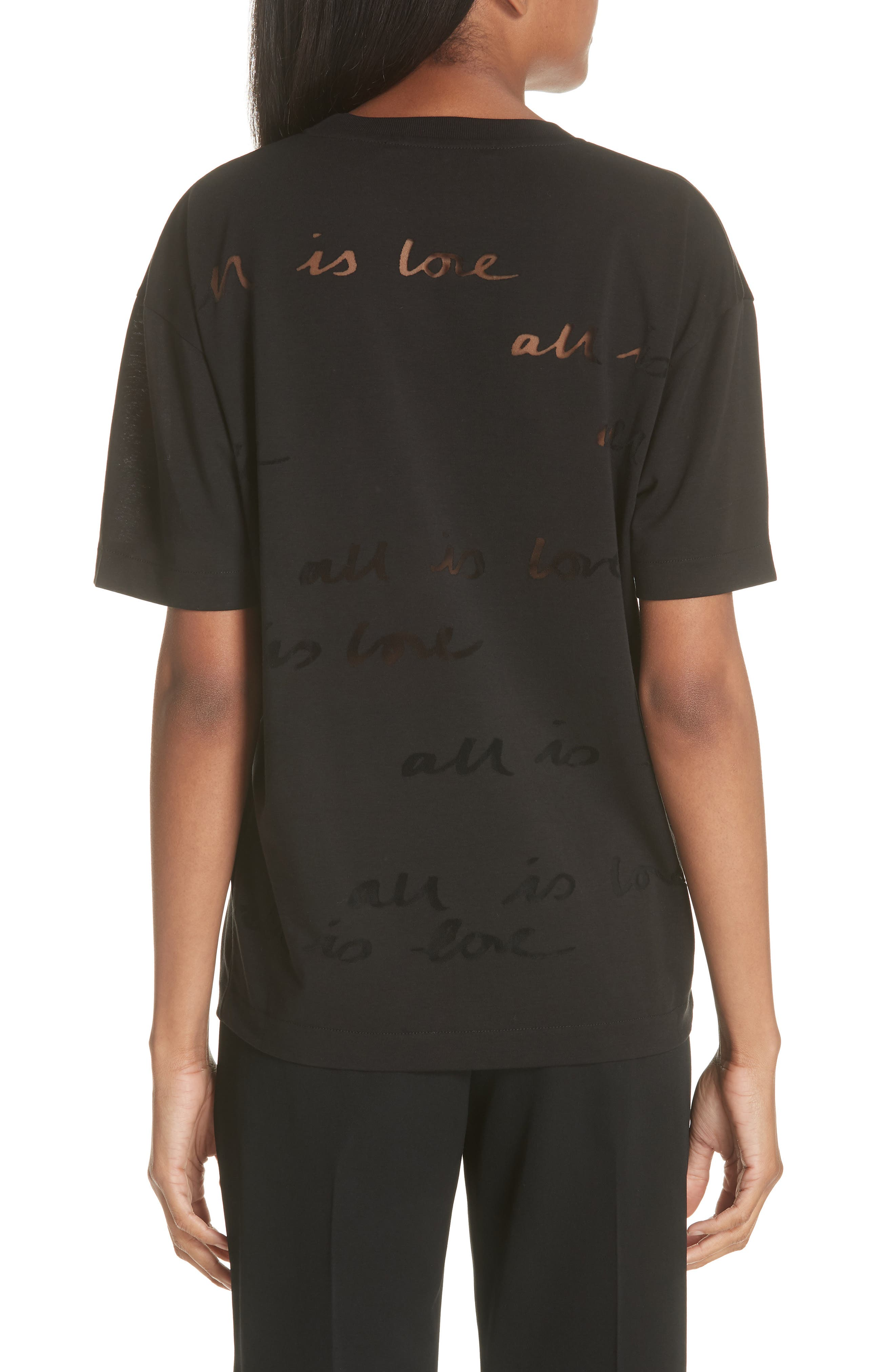 All Is Love See Through Graphic Tee,                             Alternate thumbnail 2, color,                             001