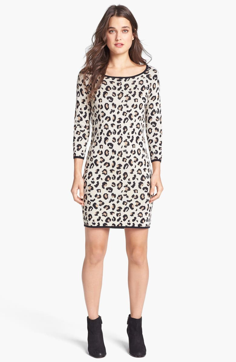 1fdaa49859 Velvet by Graham   Spencer Leopard Print Sweater Dress