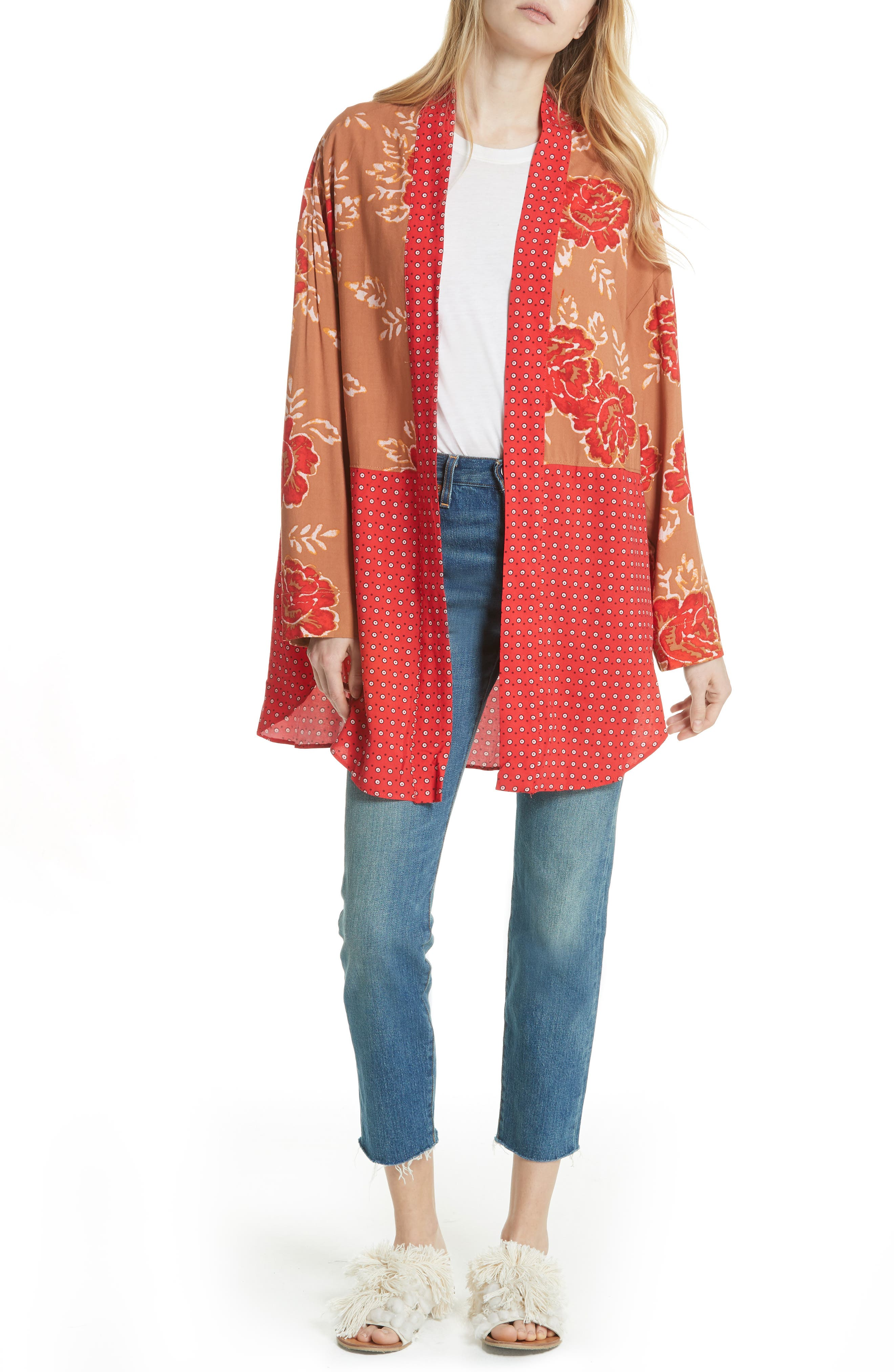 Forget Me Knot Tie Front Kimono,                             Main thumbnail 1, color,