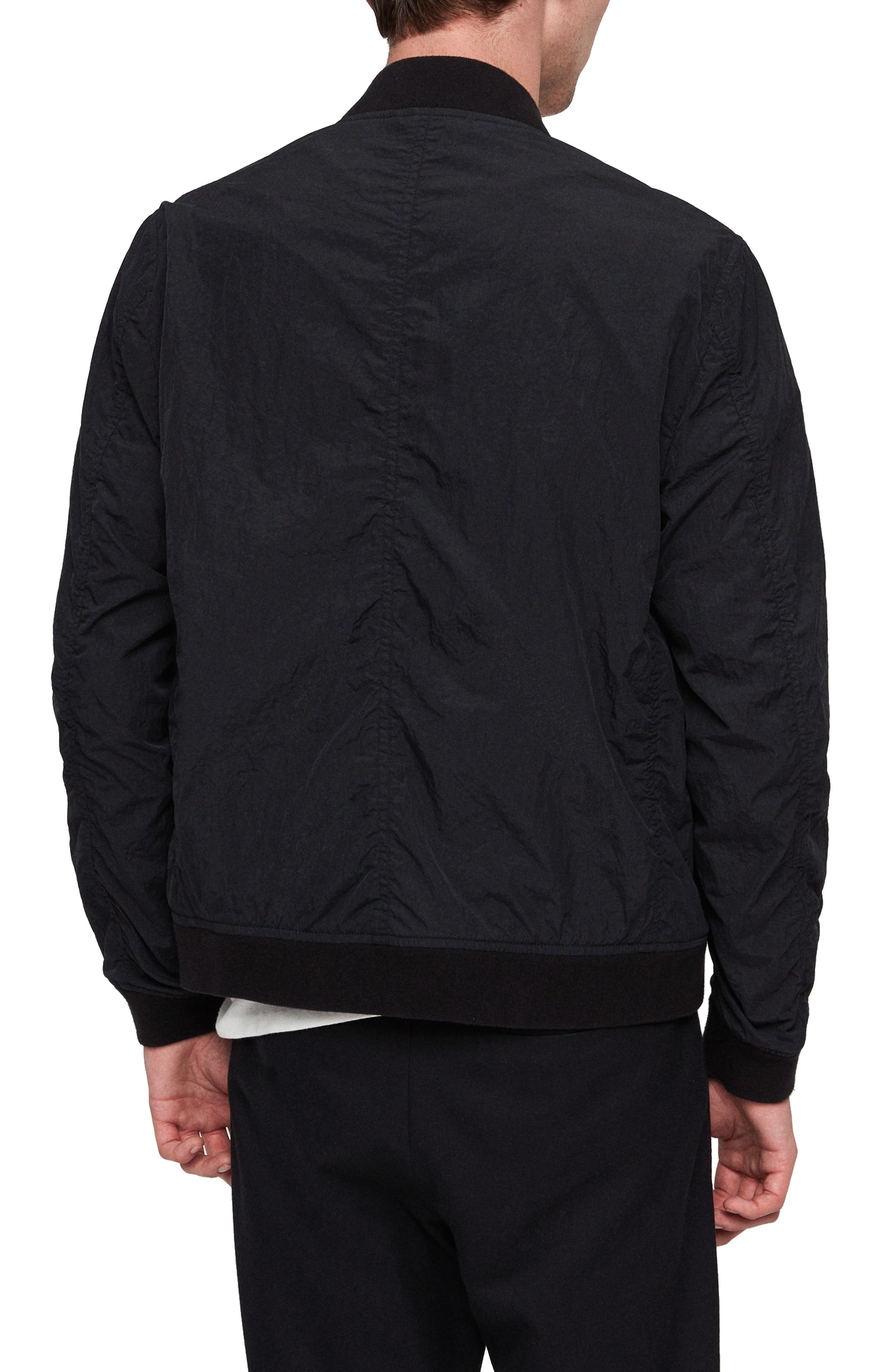 Fleet Lightweight Nylon Bomber Jacket,                             Alternate thumbnail 2, color,                             BLACK