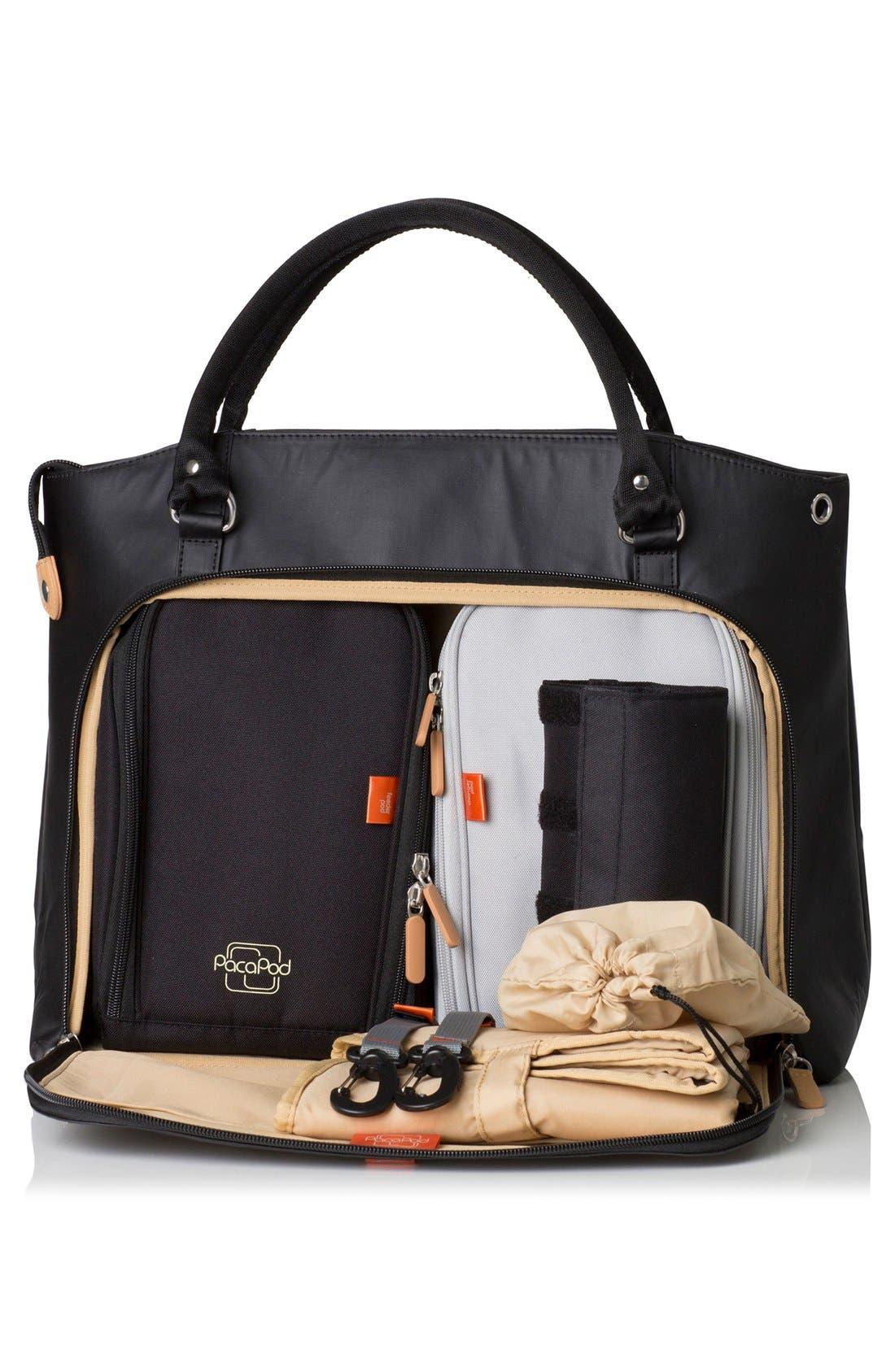'Mirano' Diaper Bag,                             Alternate thumbnail 6, color,                             BLACK