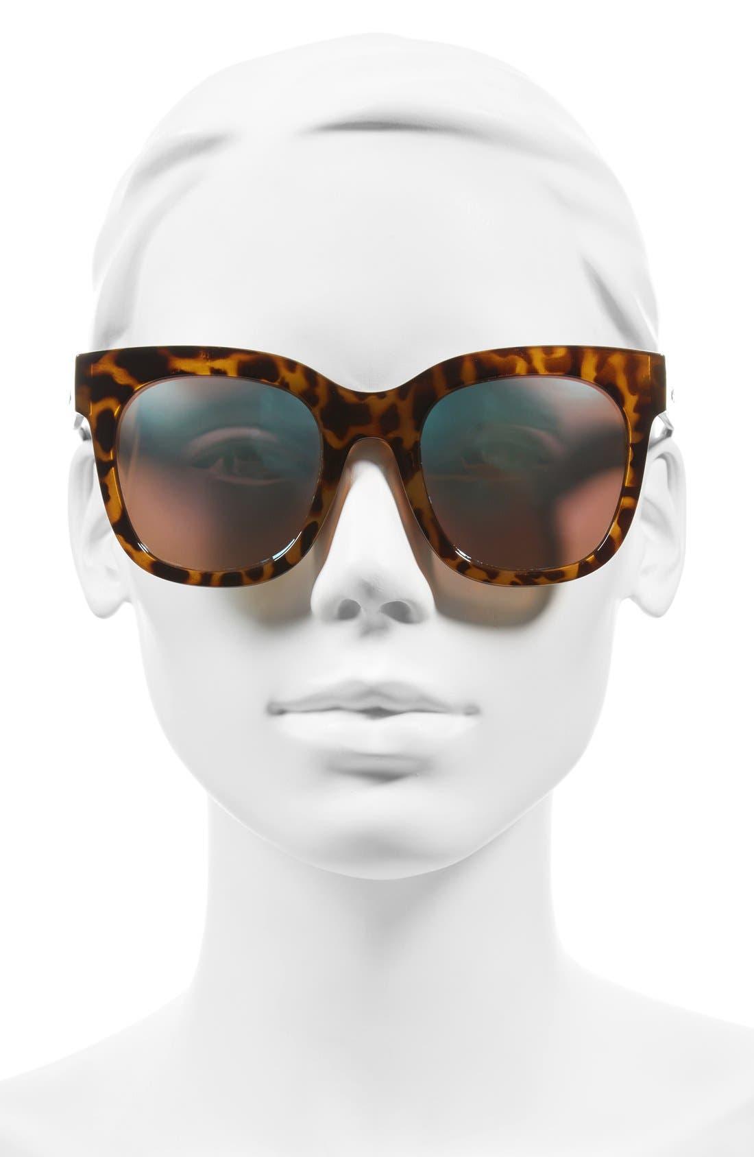 'Sagano' 50mm Square Sunglasses,                             Alternate thumbnail 4, color,