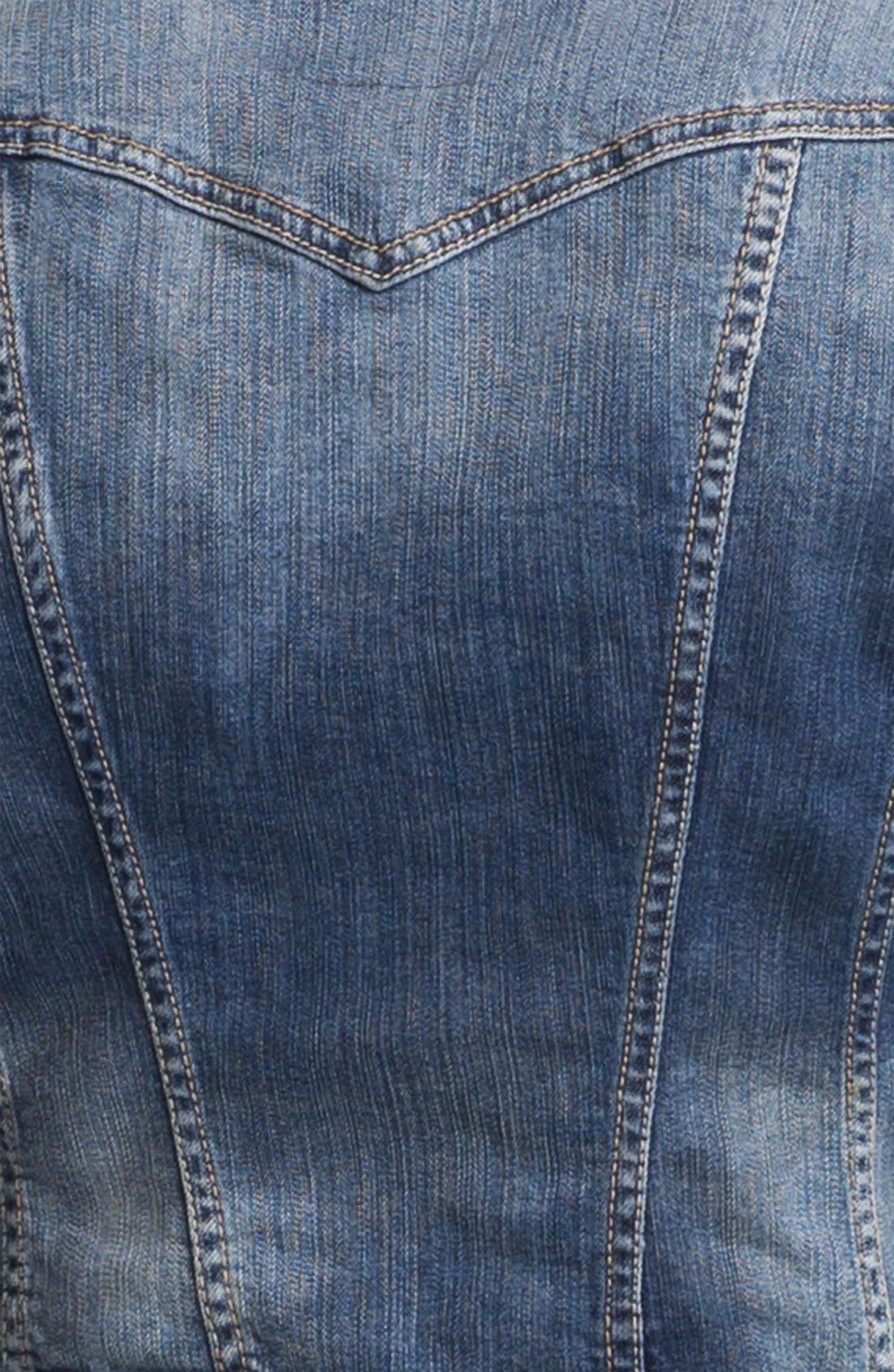 JESSICA SIMPSON,                             'Pixie' Denim Jacket,                             Alternate thumbnail 3, color,                             400