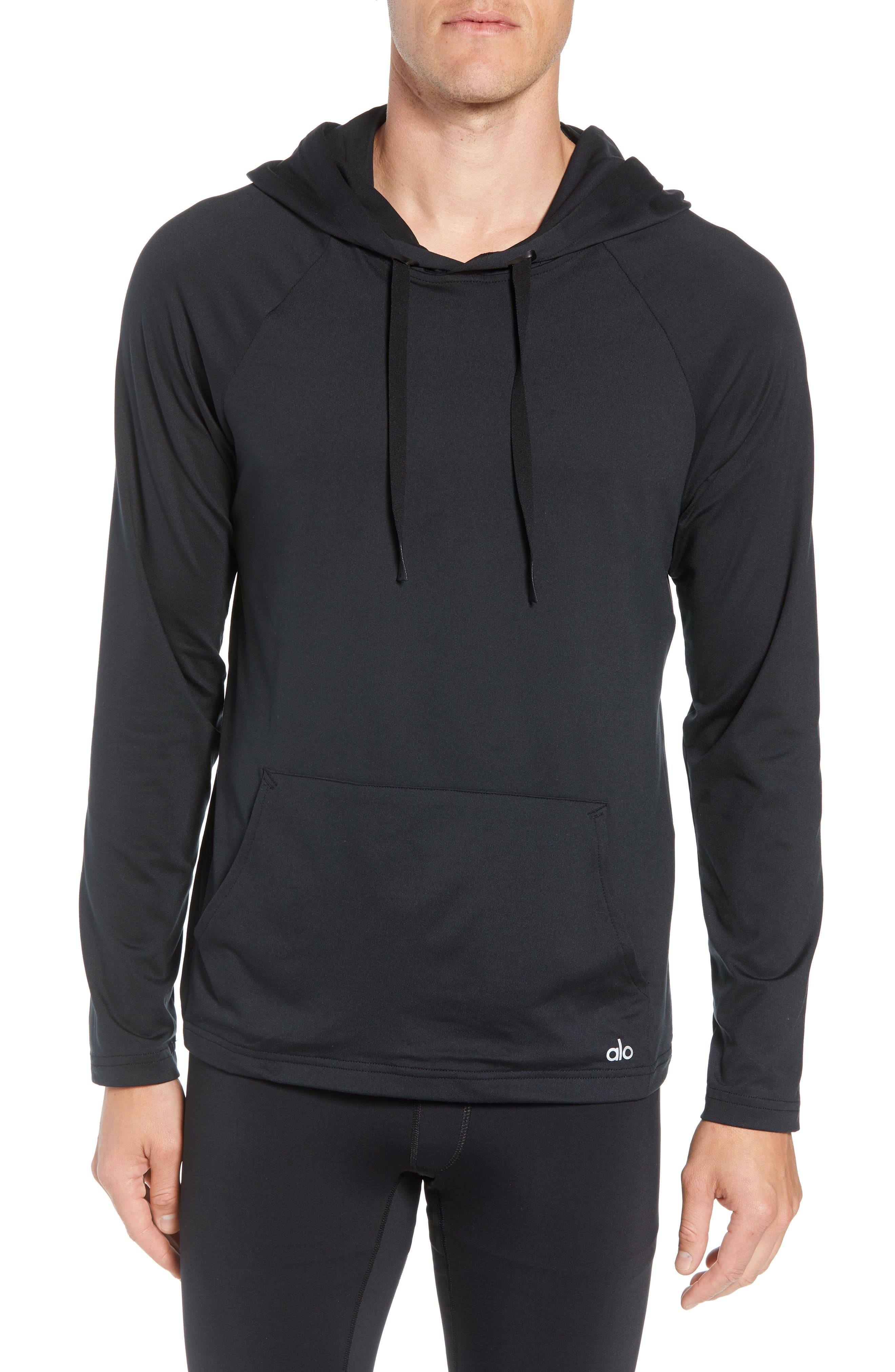 Conquer Hoodie,                             Main thumbnail 1, color,                             BLACK SOLID