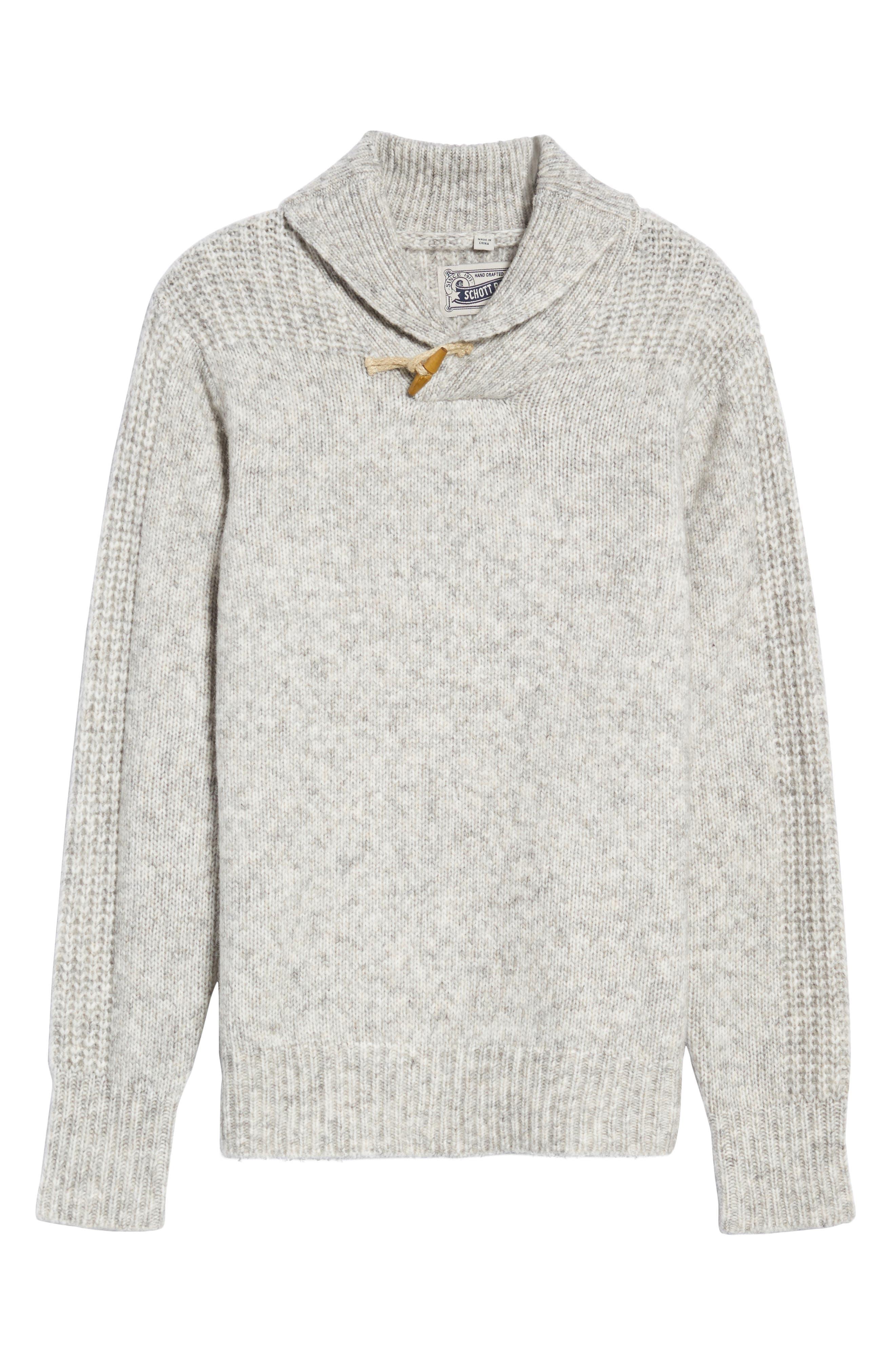Toggle Shawl Collar Sweater,                             Alternate thumbnail 6, color,                             045