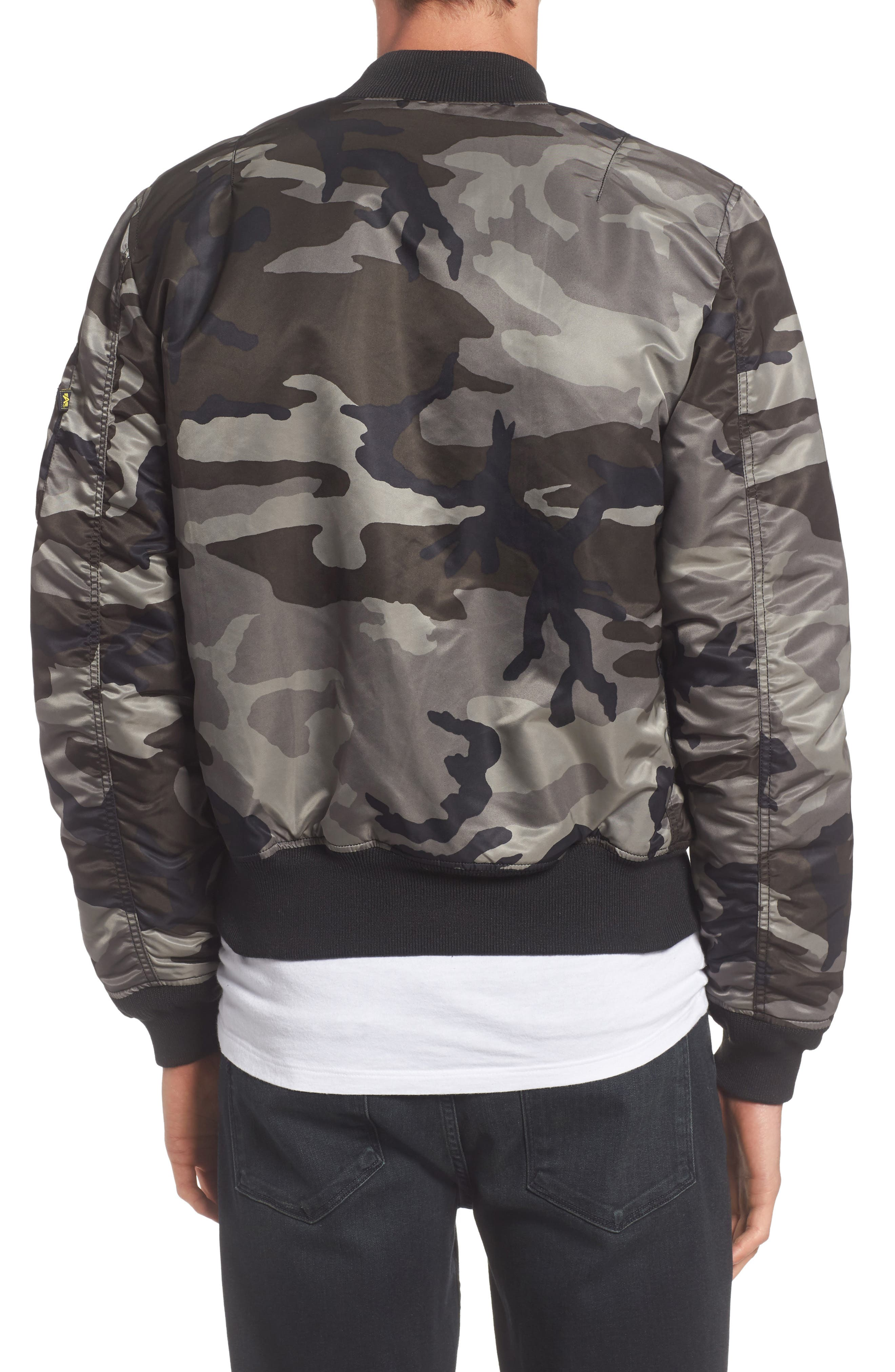 'MA-1' Slim Fit Bomber Jacket,                             Alternate thumbnail 2, color,                             005