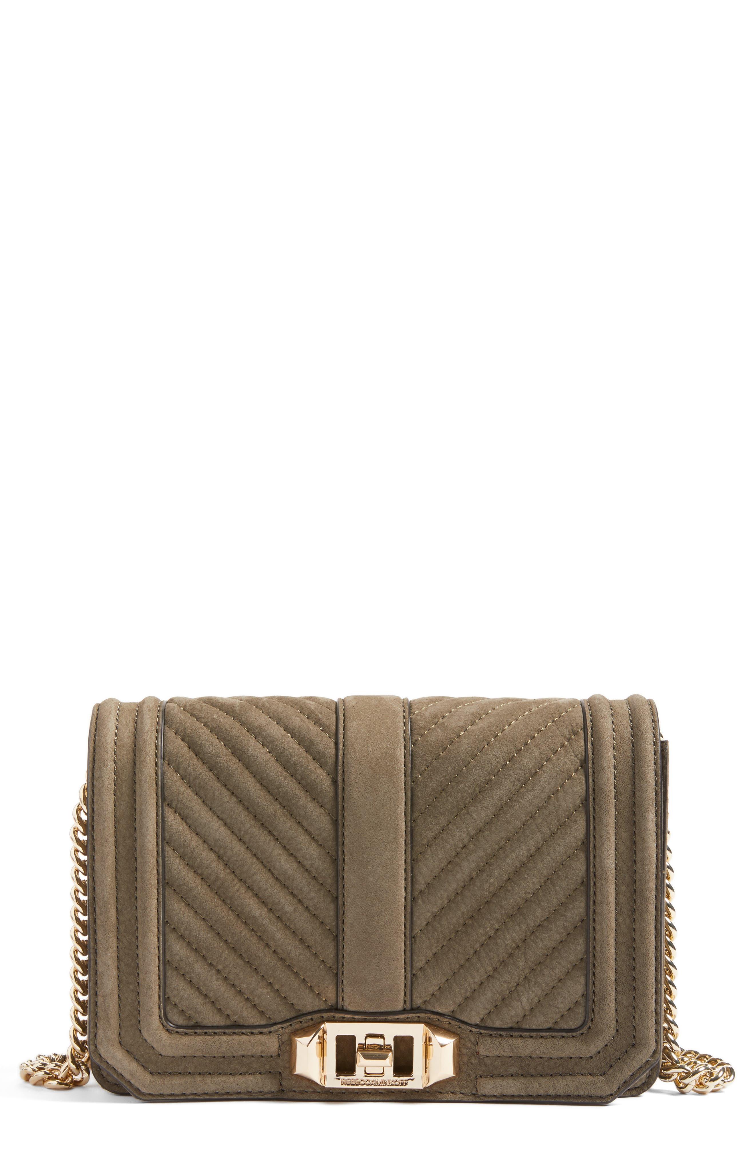 Small Love Nubuck Crossbody Bag,                         Main,                         color, 305