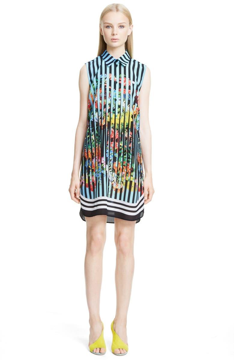 54d6be35c76 Mary Katrantzou Print Silk Sleeveless Shirtdress