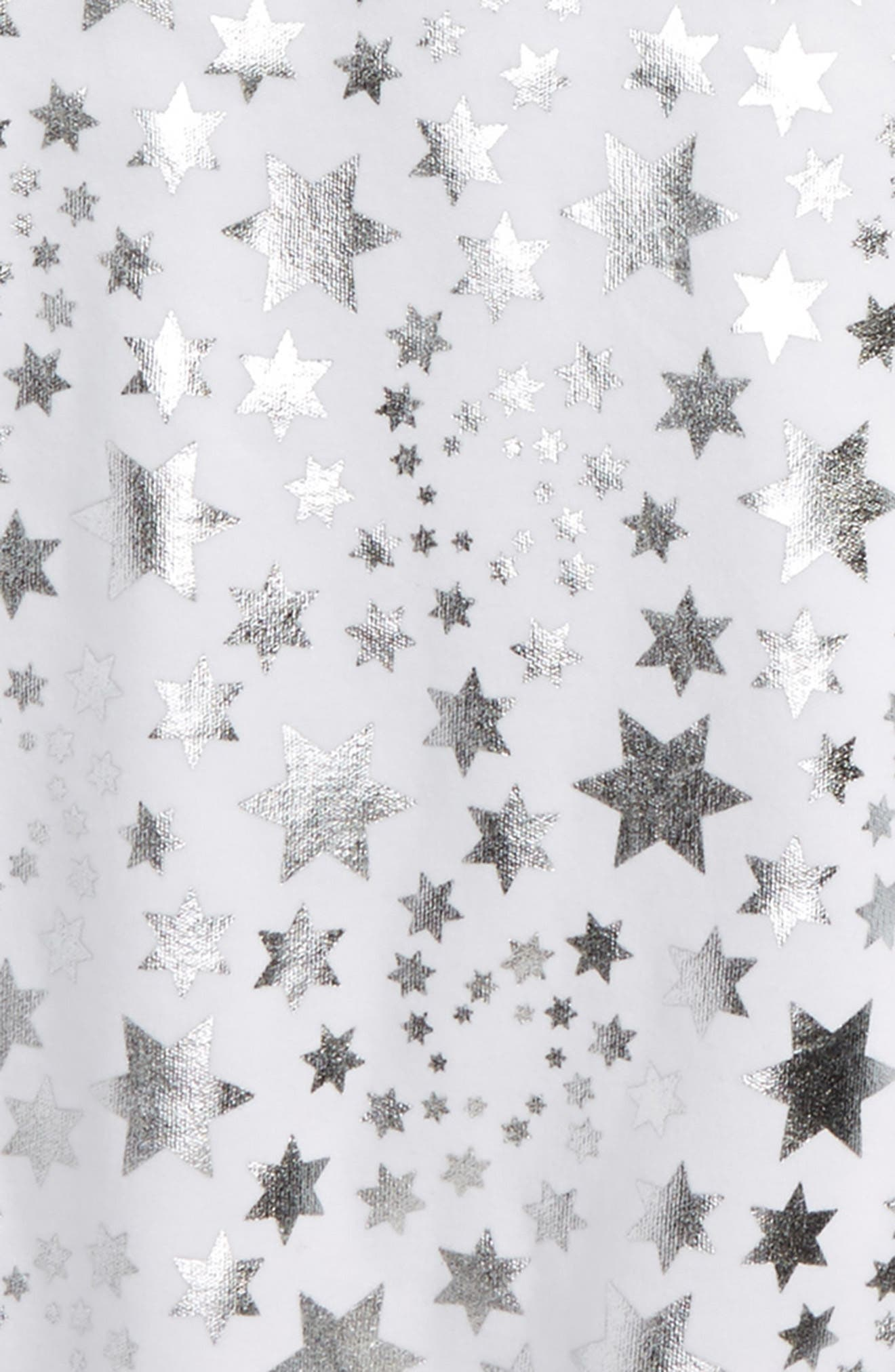 Star Print Fitted Two-Piece Pajamas,                             Alternate thumbnail 3, color,                             100