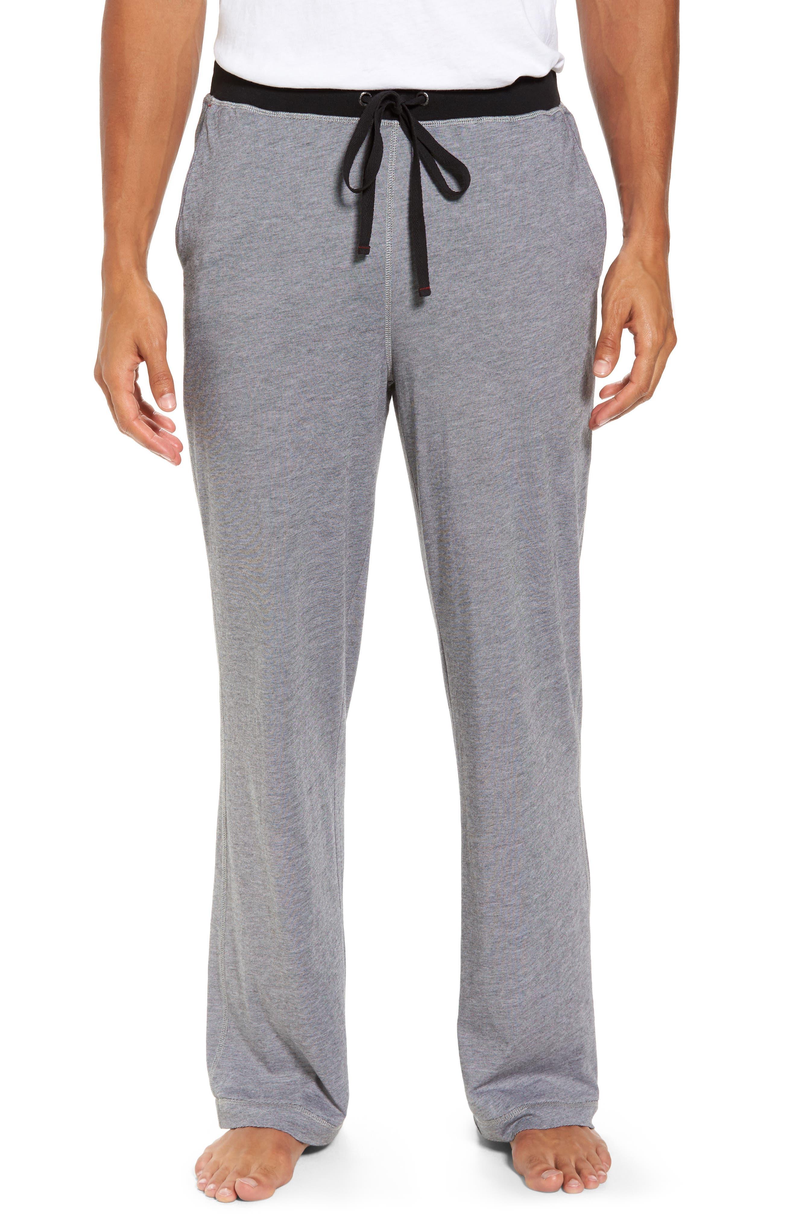 Pima Cotton & Modal Lounge Pants,                         Main,                         color, 001