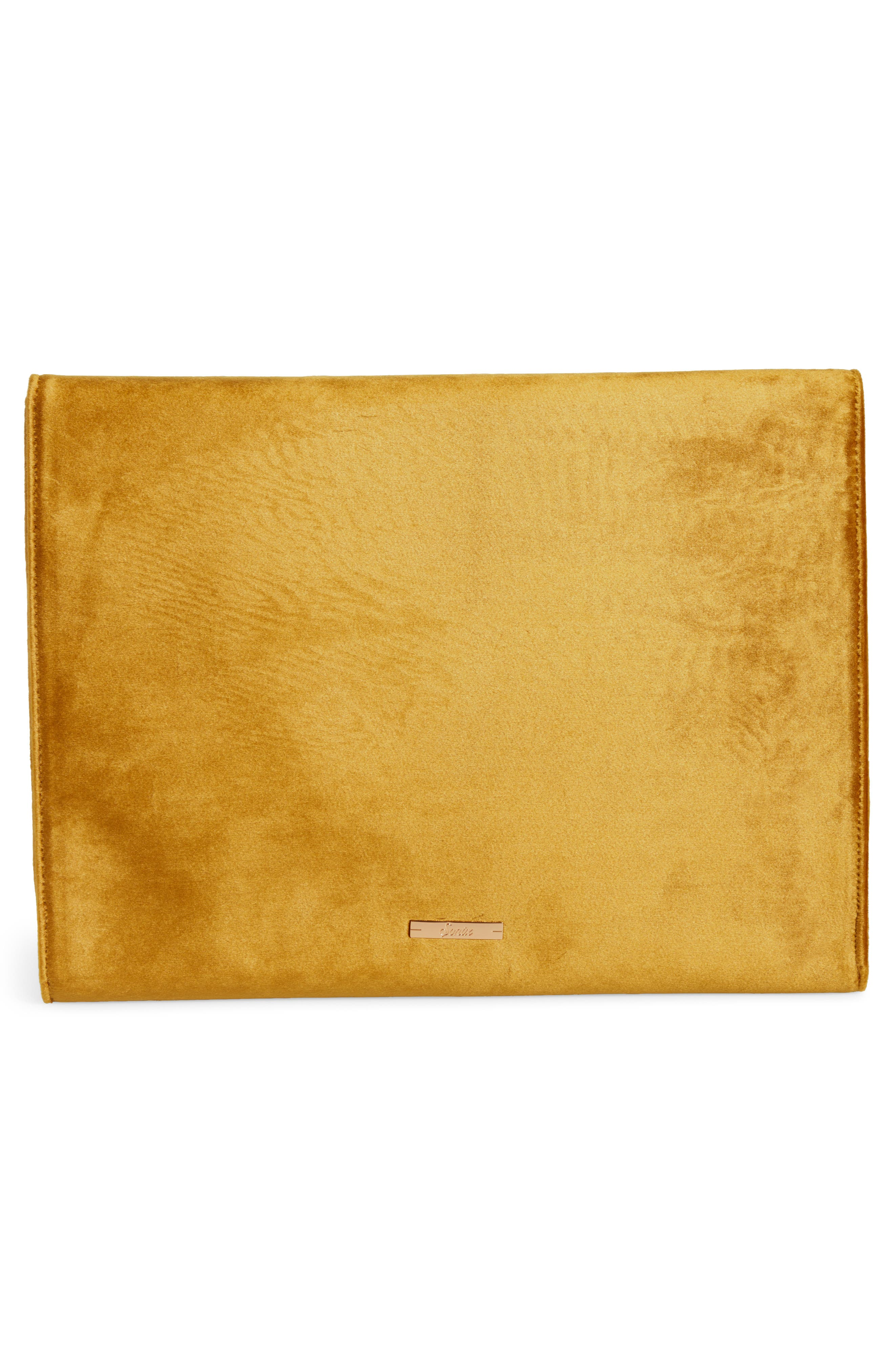 Canary Velvet Laptop Clutch,                             Alternate thumbnail 4, color,                             710