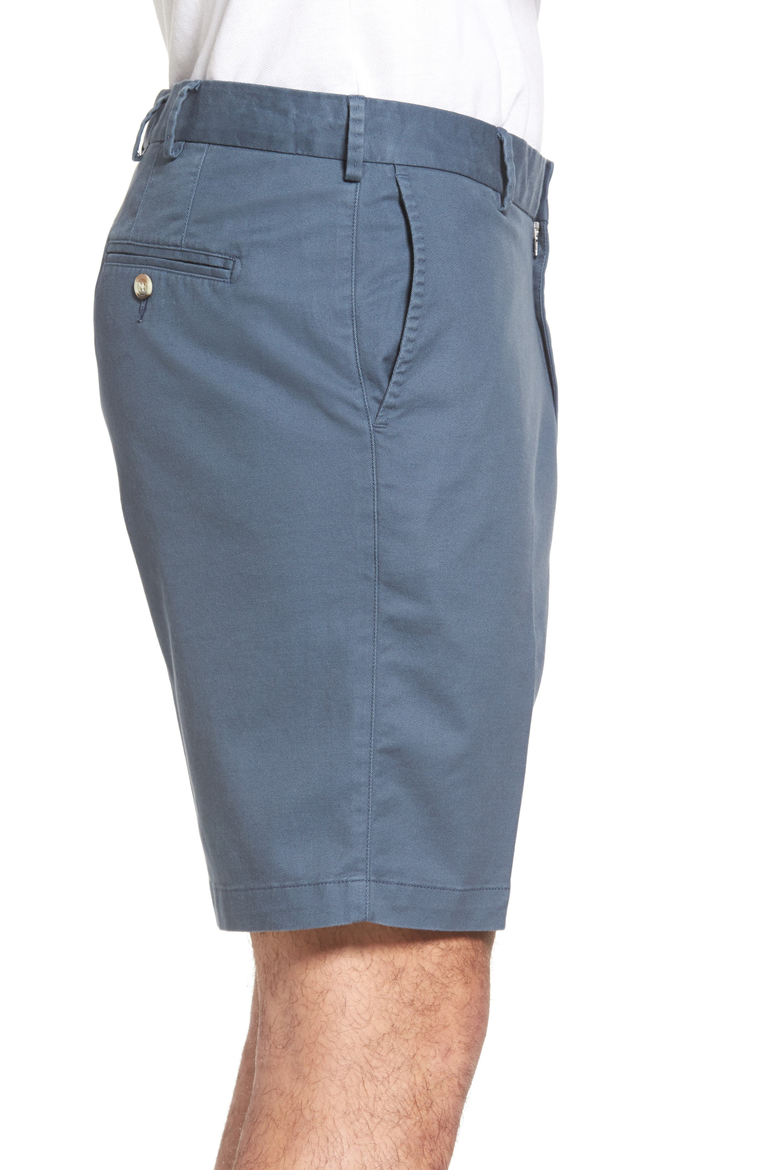 Soft Touch Stretch Twill Shorts,                             Alternate thumbnail 3, color,                             NAVY
