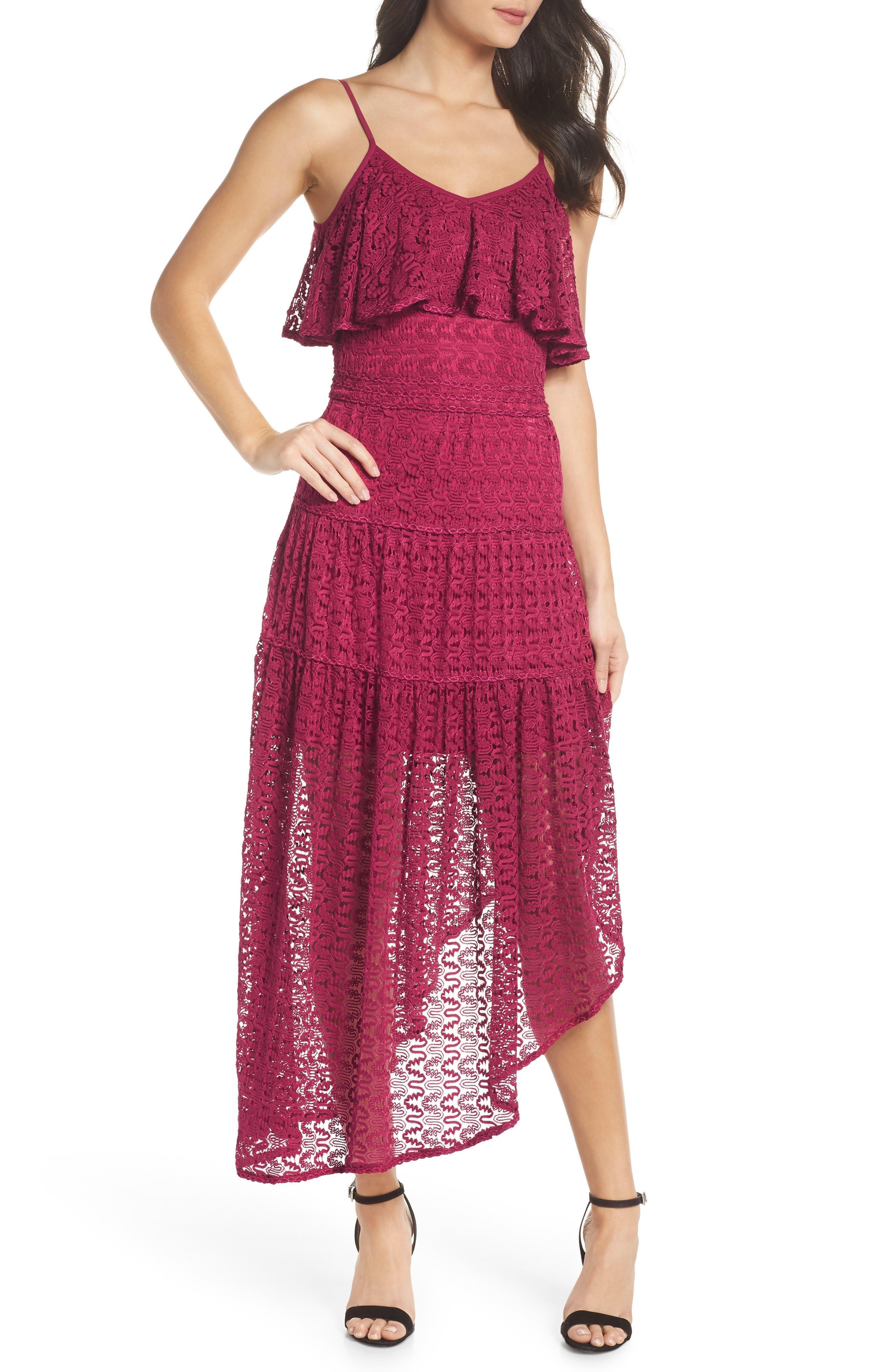 Rayna Asymmetrical Lace Dress,                             Main thumbnail 1, color,                             939