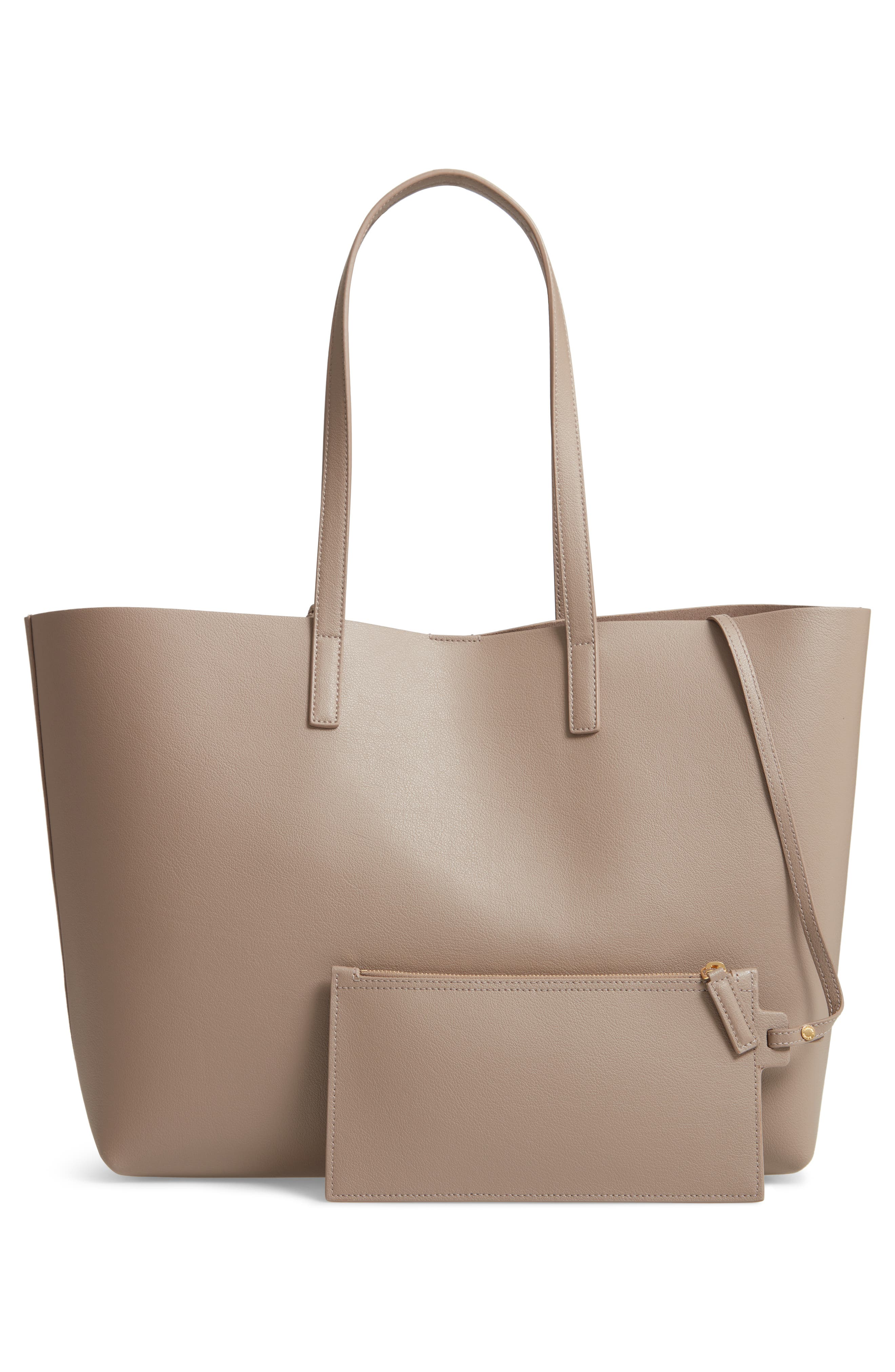 'Shopping' Leather Tote,                             Alternate thumbnail 3, color,                             MINK