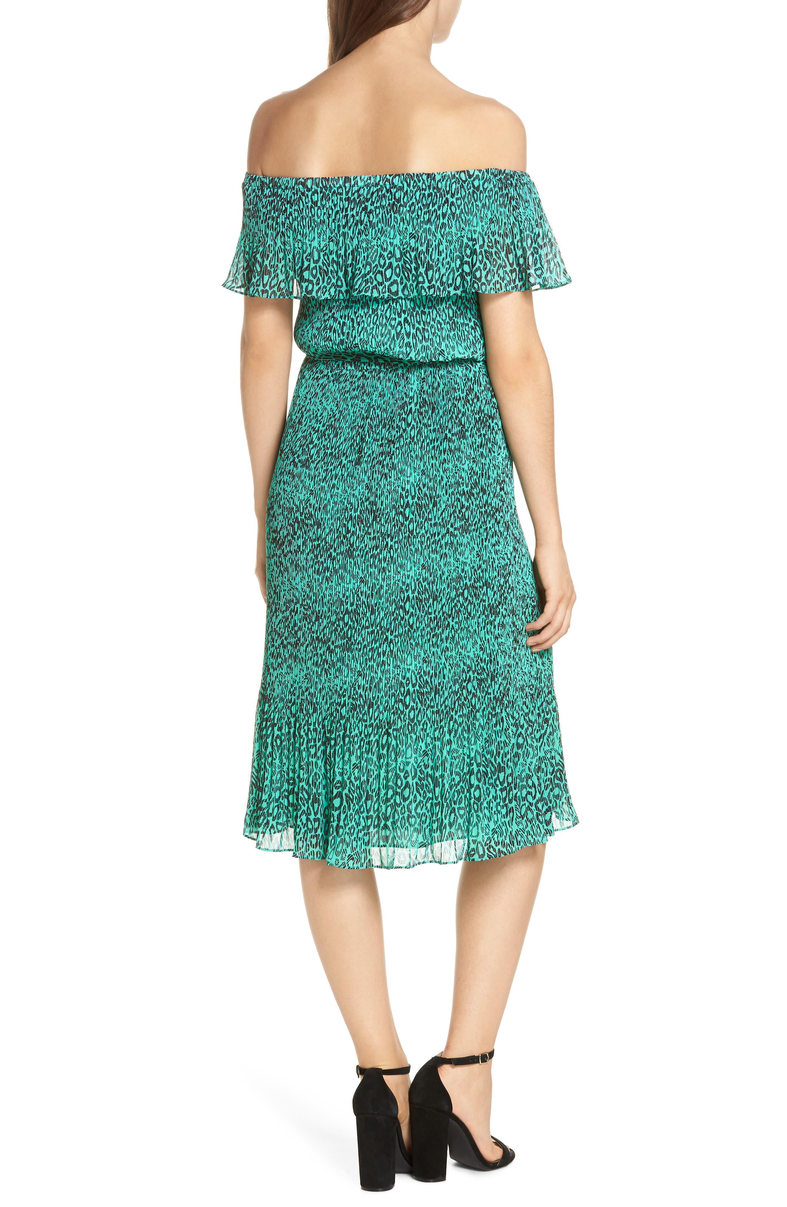 Off the Shoulder Chiffon Midi Dress,                             Alternate thumbnail 2, color,                             300