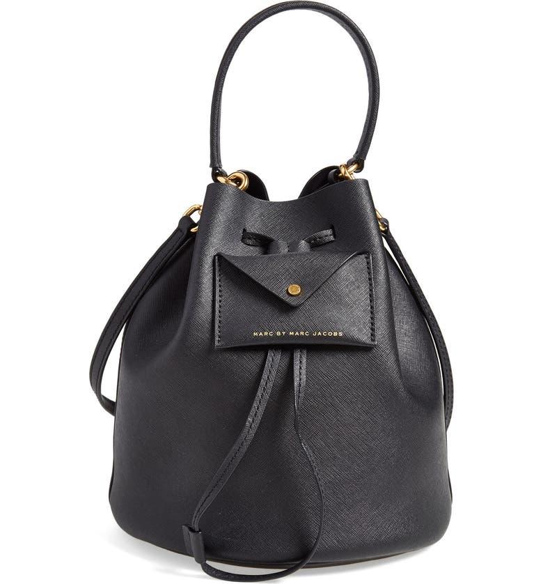Marc By Jacobs Metropoli Leather Bucket Bag