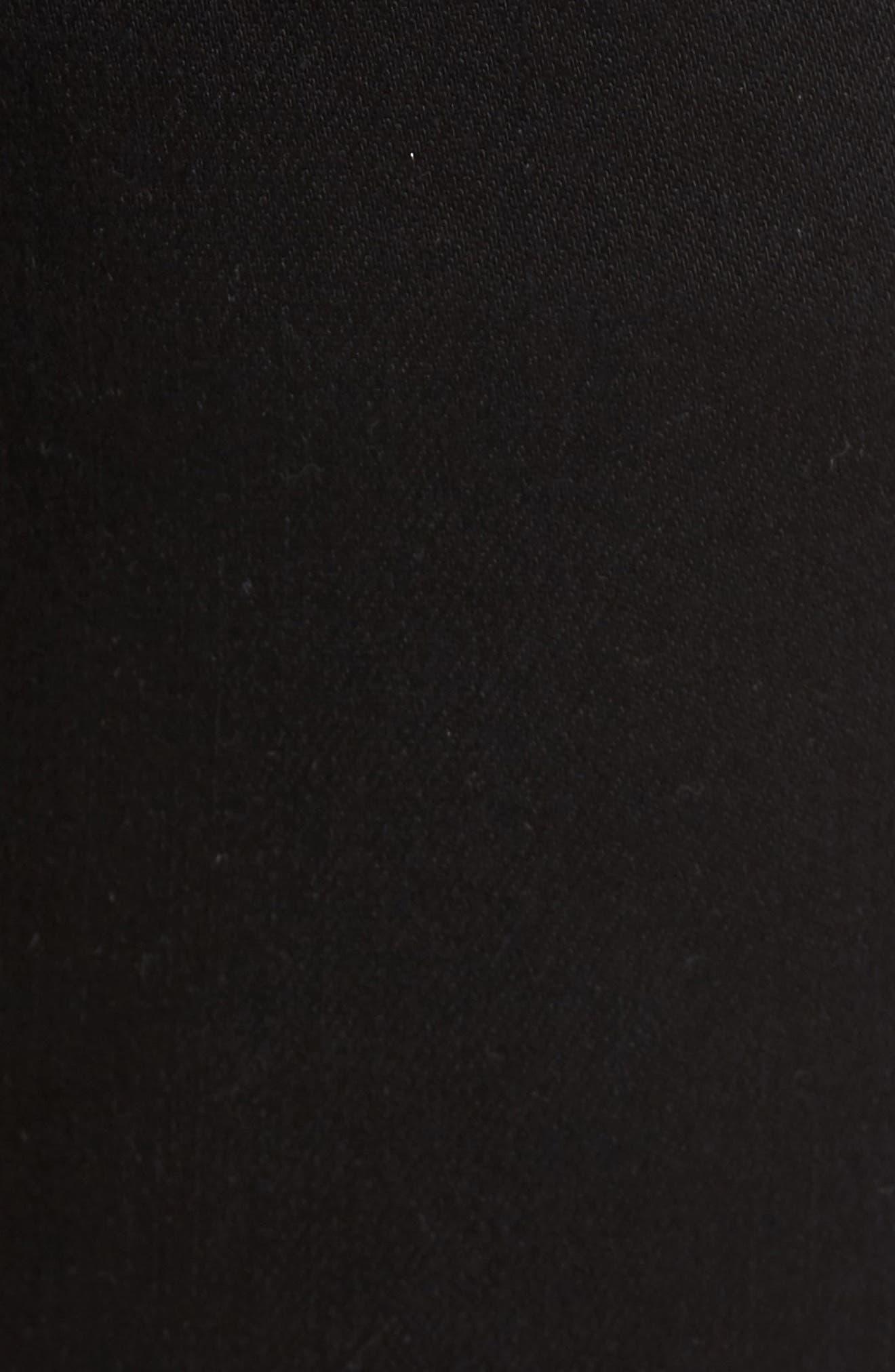 Jimmy Lumina Slim Straight Leg Twill Pants,                             Alternate thumbnail 5, color,                             BLACK