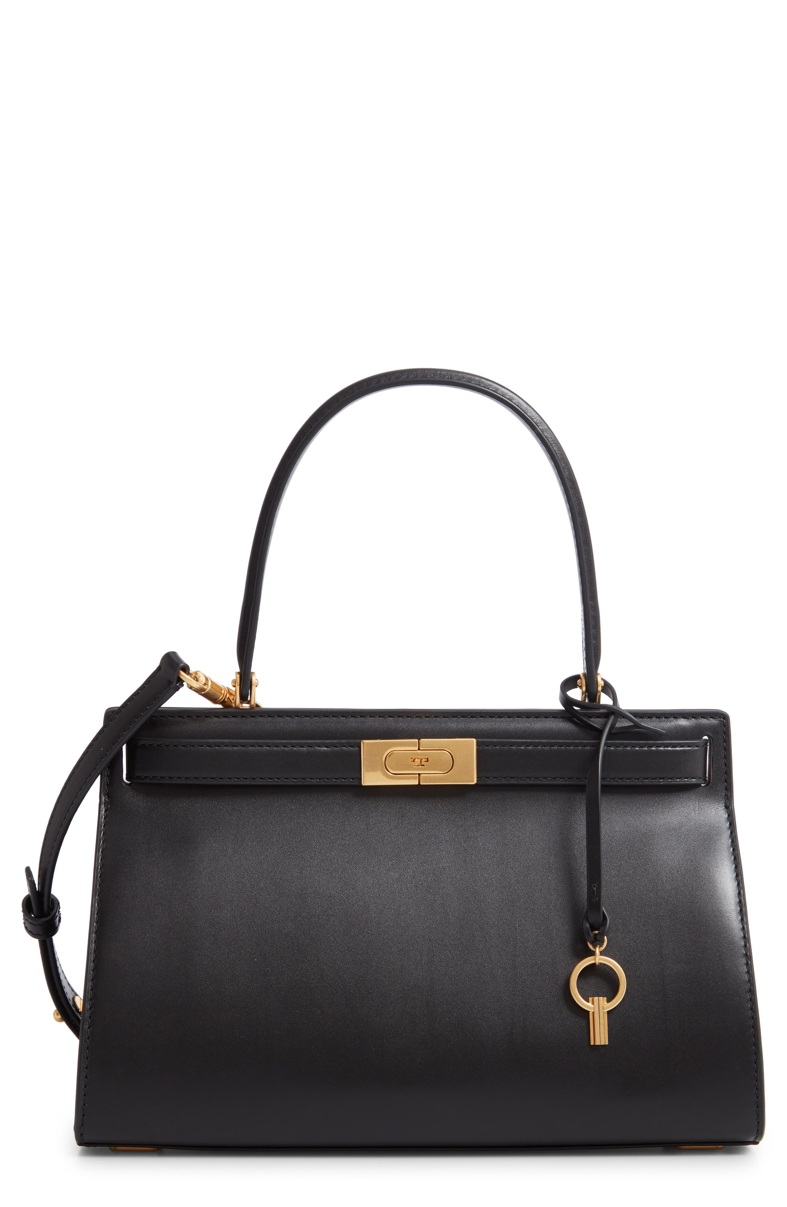 Small Lee Radziwill Leather Bag by Tory Burch