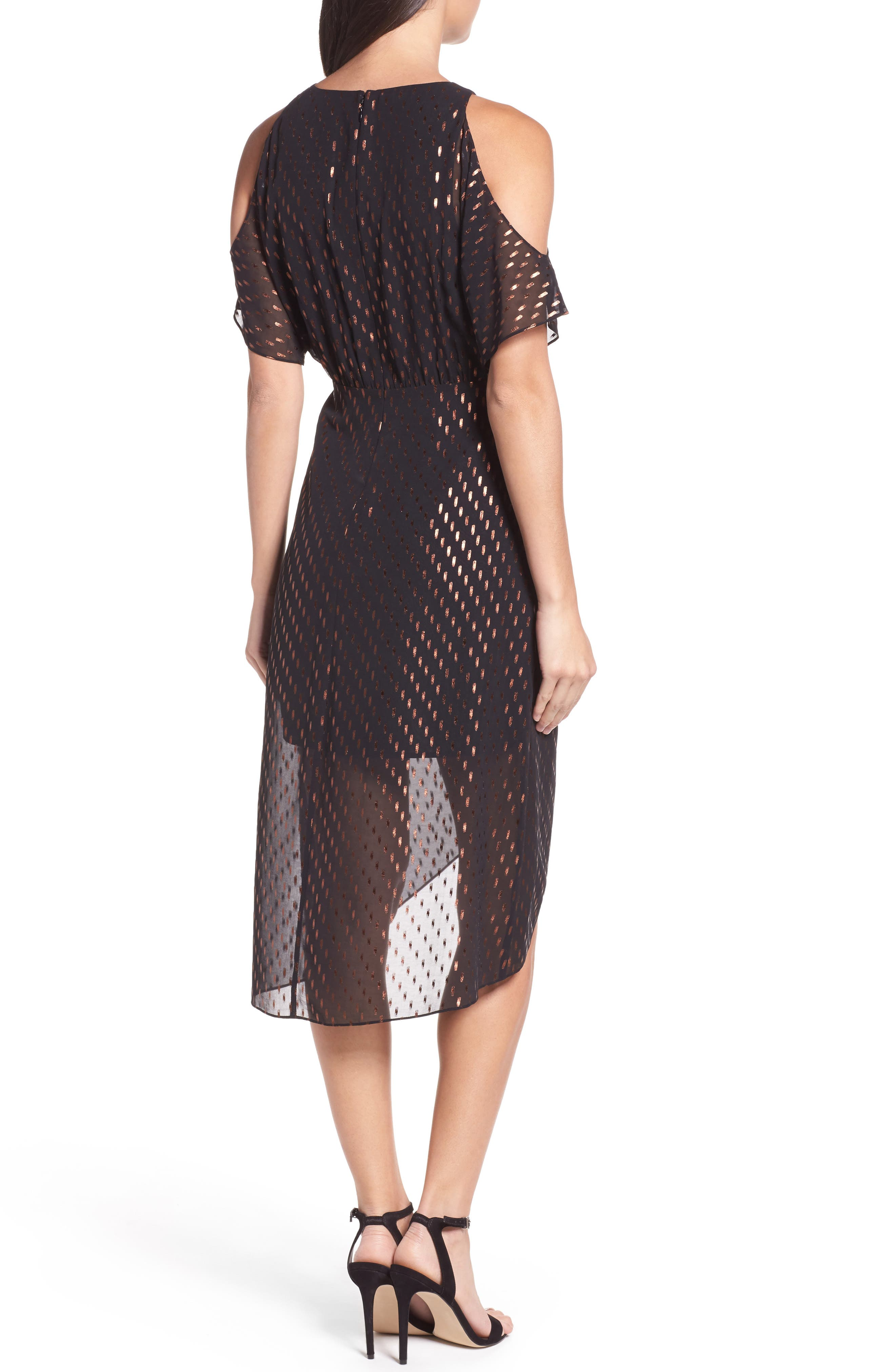 You Can't Handle All This Sparkle Cold Shoulder Dress,                             Alternate thumbnail 2, color,                             010