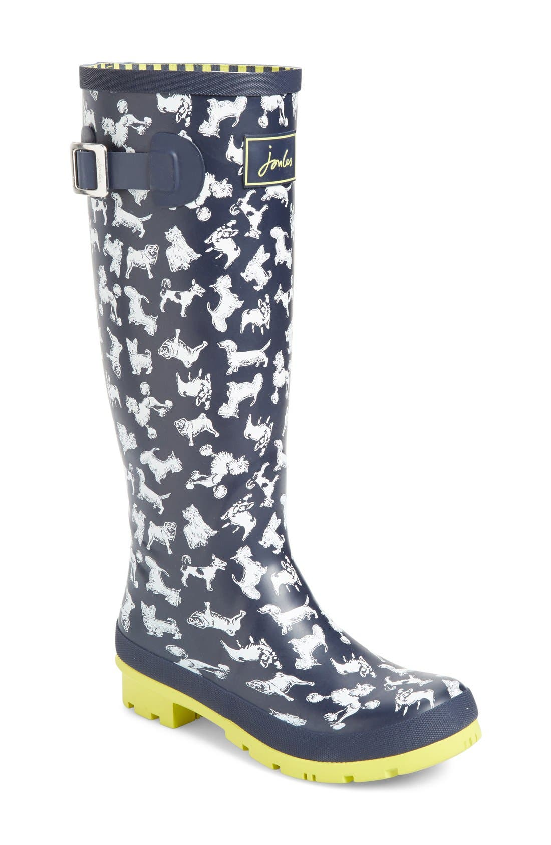 'Welly' Print Rain Boot,                             Main thumbnail 42, color,