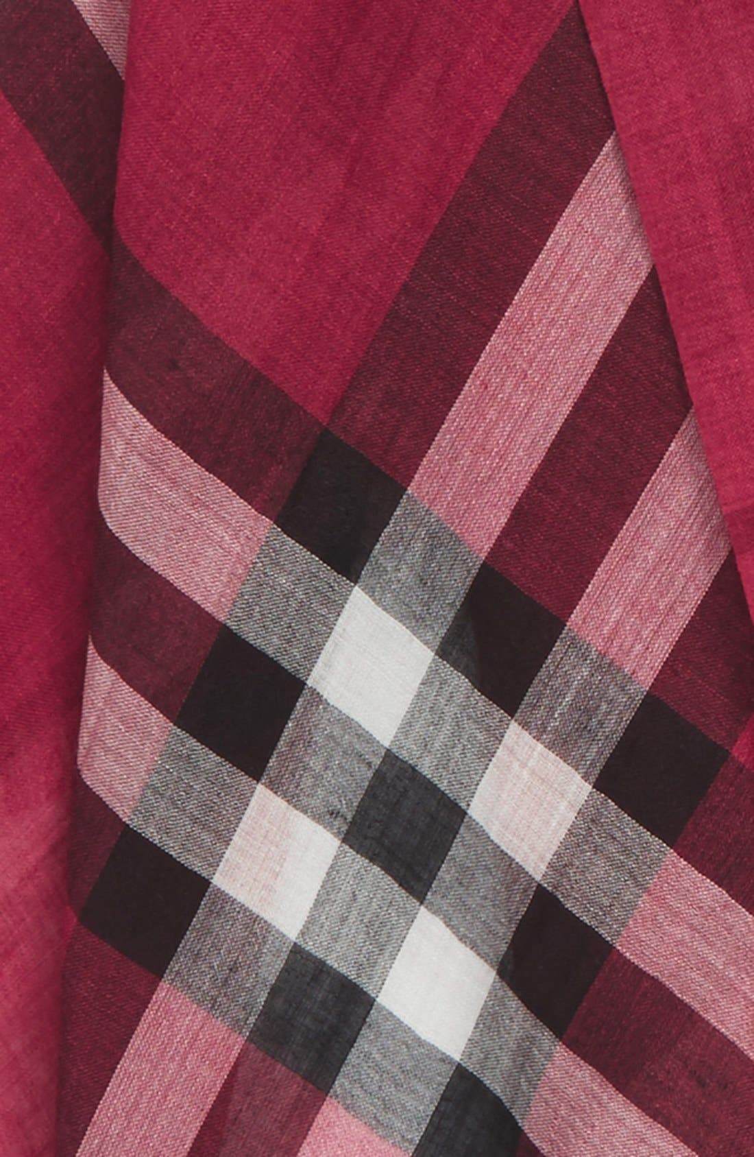 Giant Check Print Wool & Silk Scarf,                             Alternate thumbnail 113, color,
