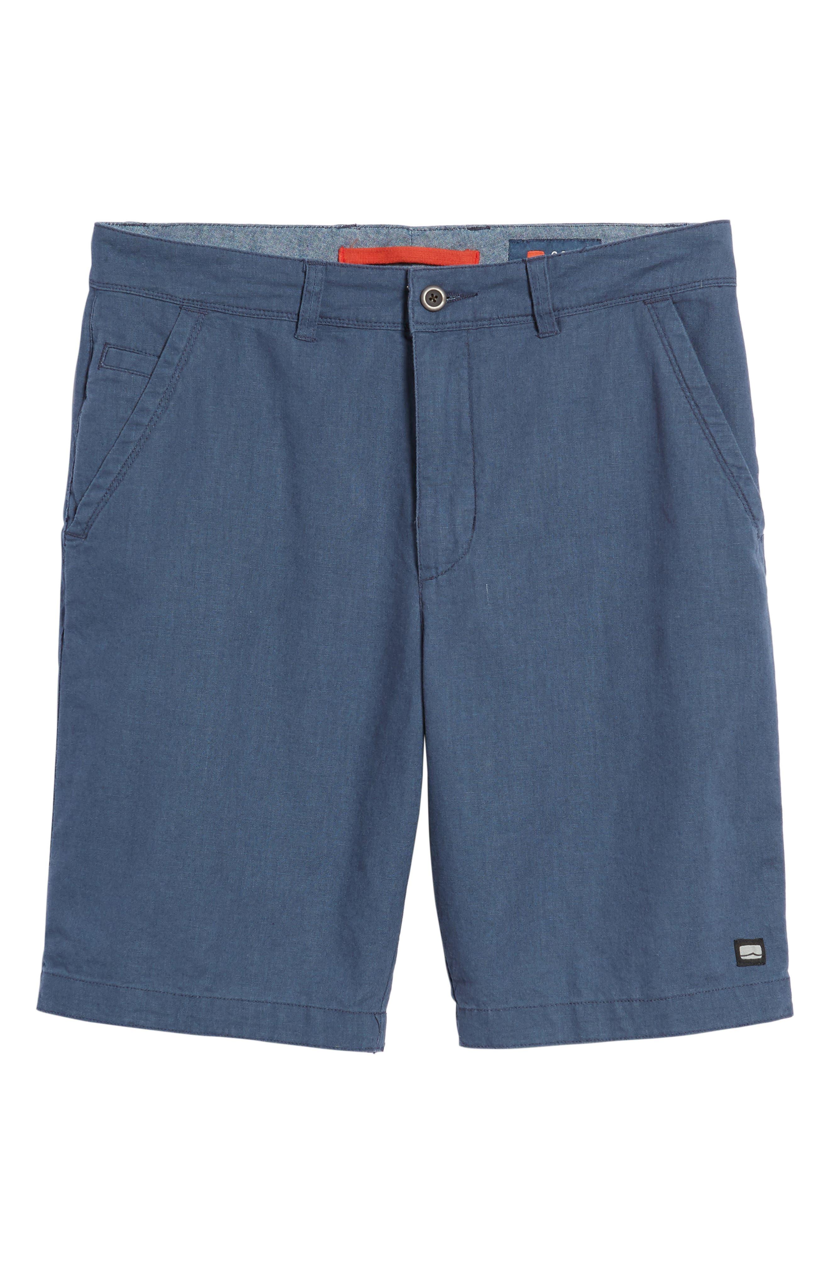 Islander Linen & Cotton Shorts,                             Alternate thumbnail 6, color,                             410
